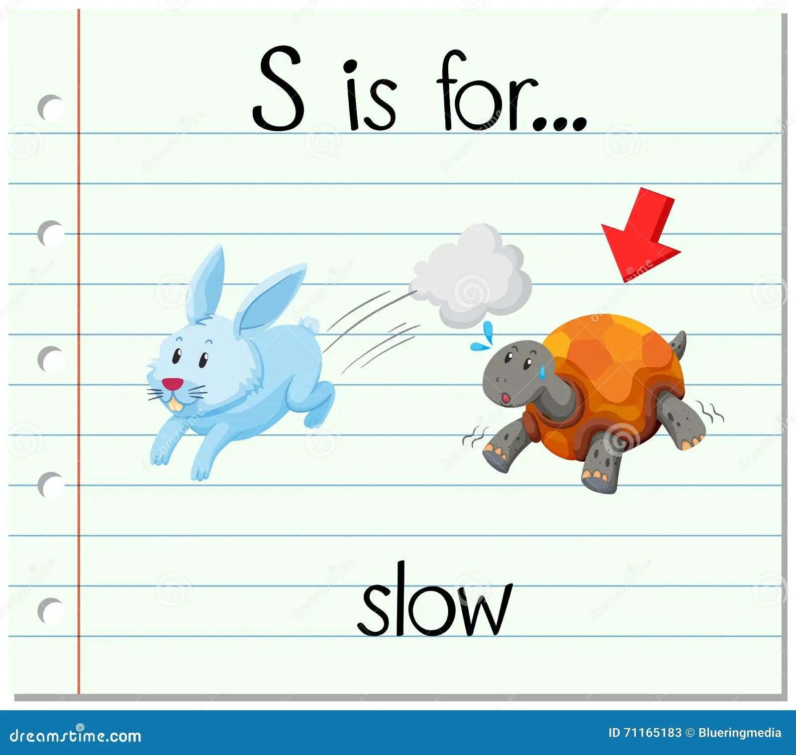 Animal Flashcard With Rabbit Vector Illustration