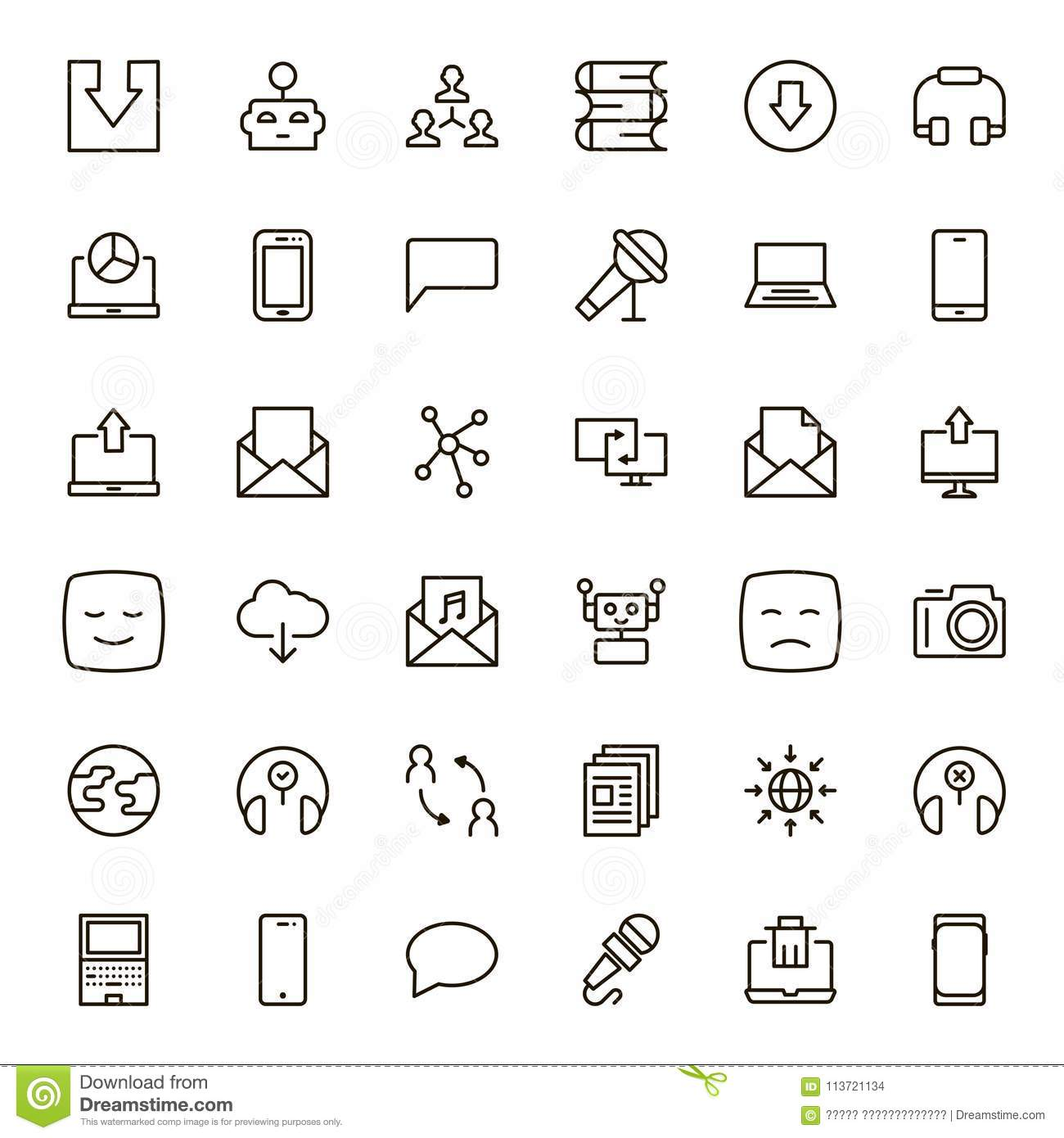 Flat Line Icon Stock Vector Illustration Of Bubble