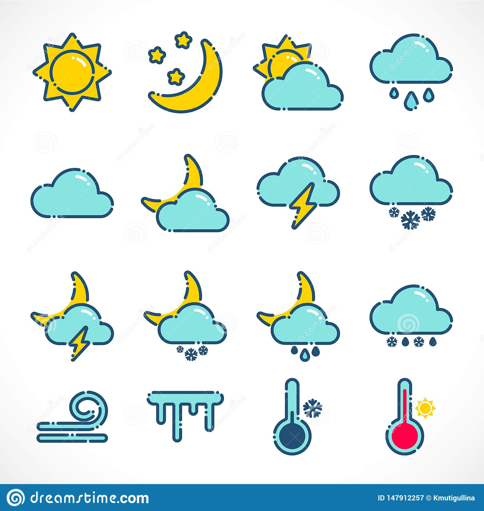 Hot And Cold Temperature Symbol Vector Illustration