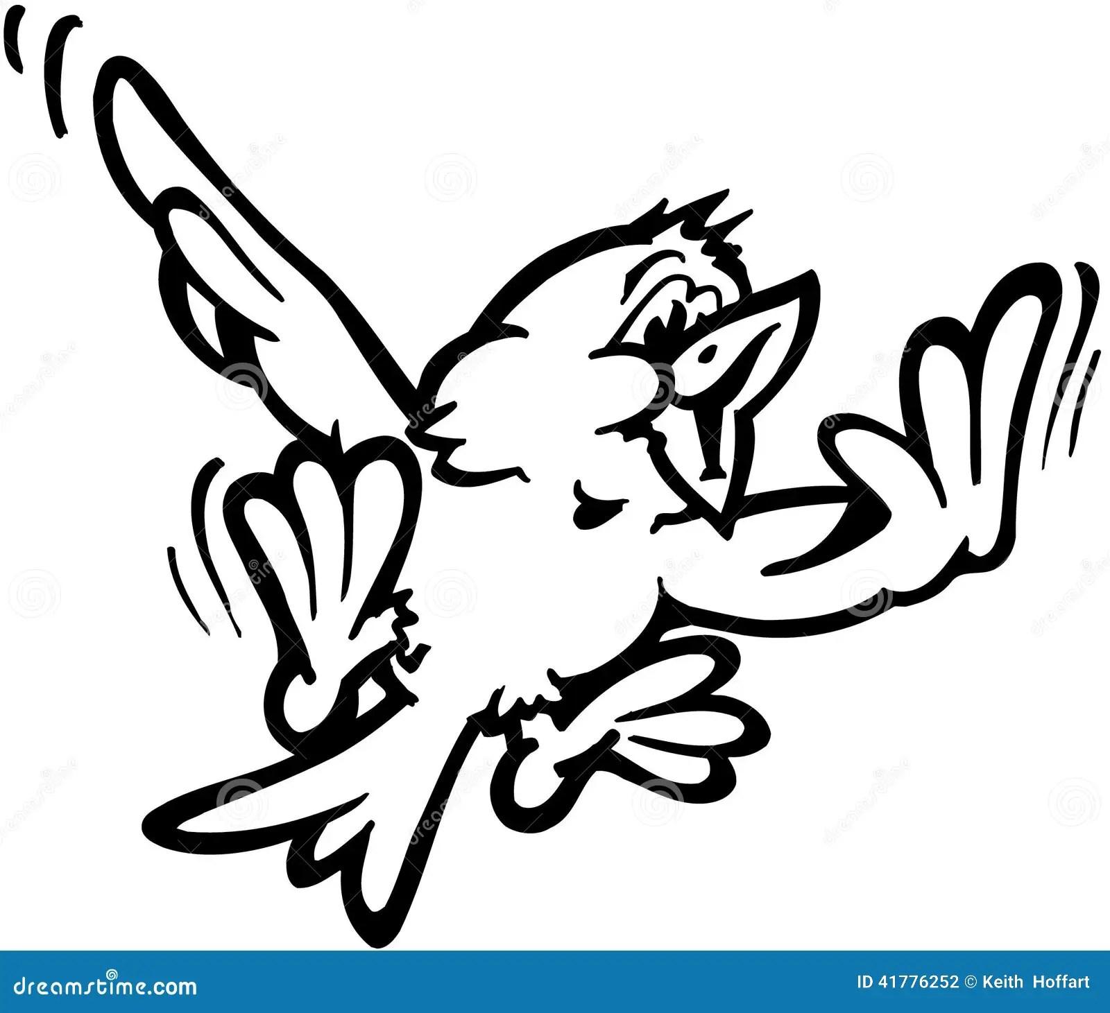 Fliegen Vogel Karikatur Design Vektor Clipart Vektor