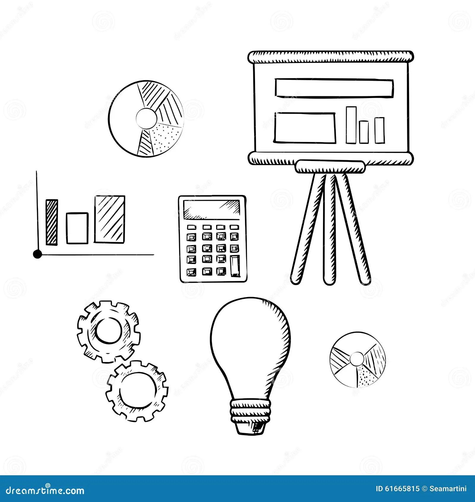 Flip Chart Graphs Calculator Idea And Gears Stock