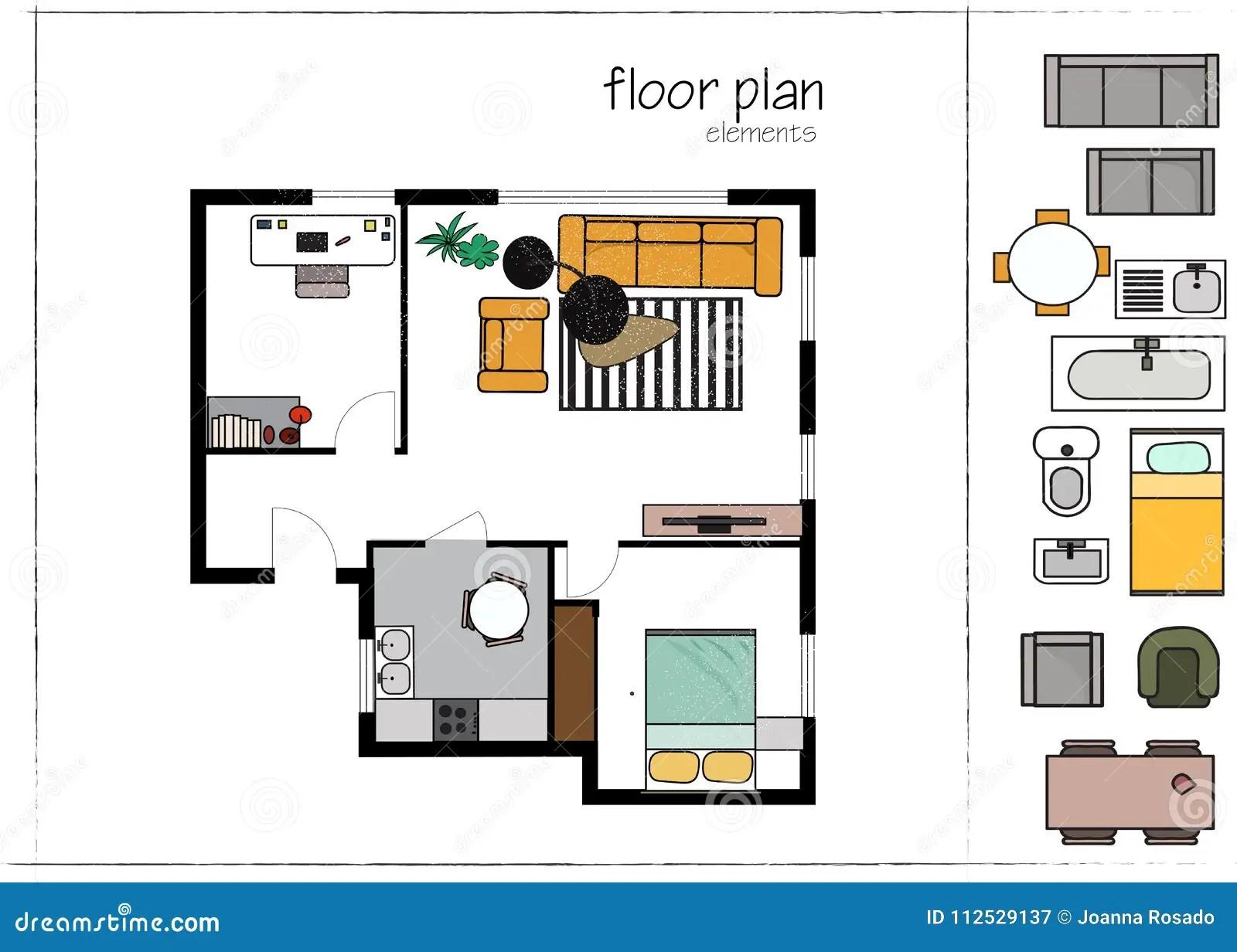 Modern Design Interior Design Floor Plan Vector