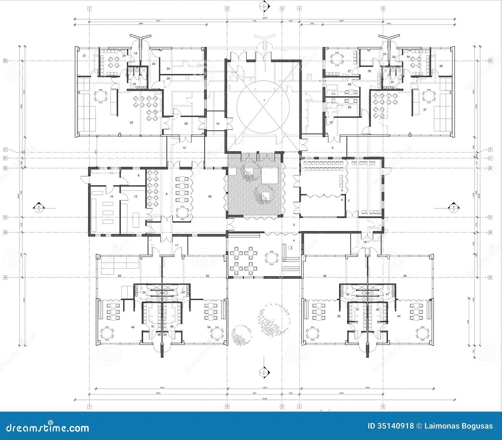 Floor Plan Of The Kindergarten Royalty Free Stock Photos