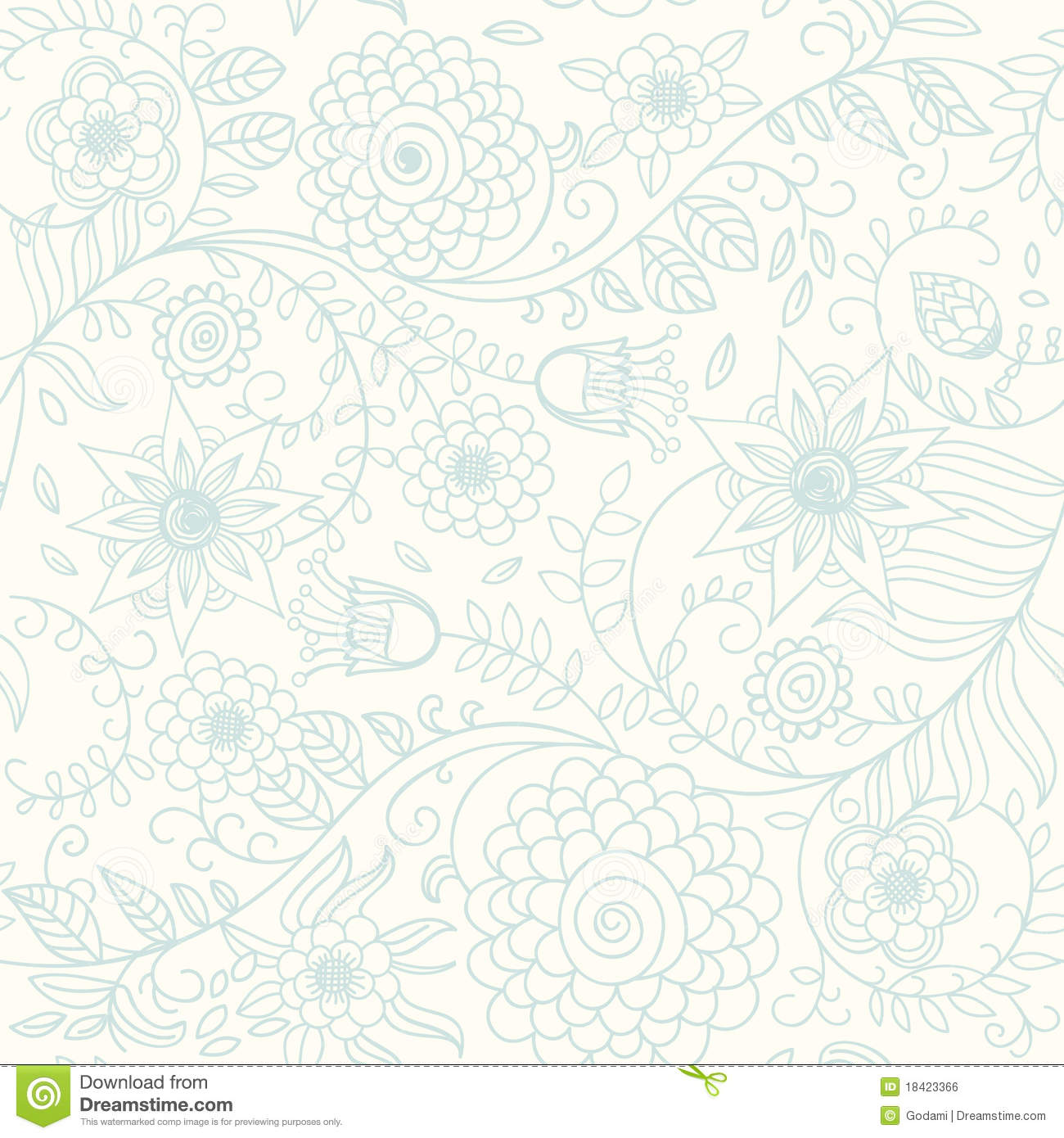 Floral Background In Light Colours Royalty Free Stock