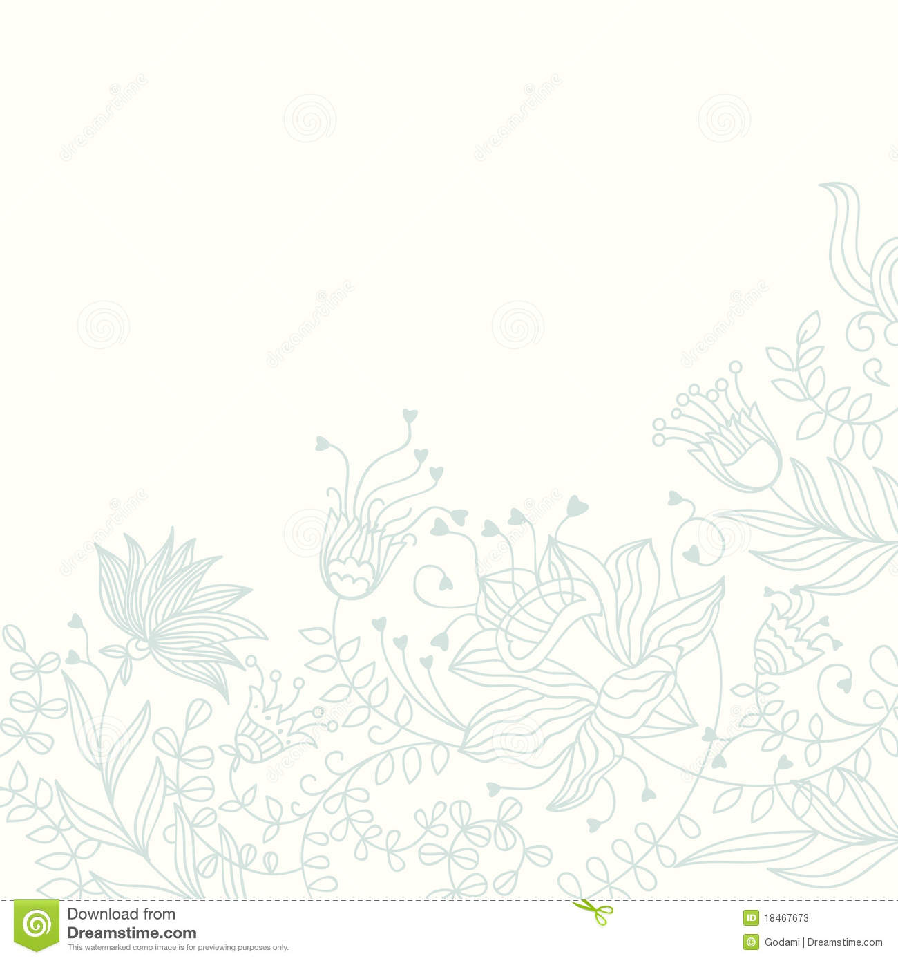 Floral Background In Light Colours Stock Vector