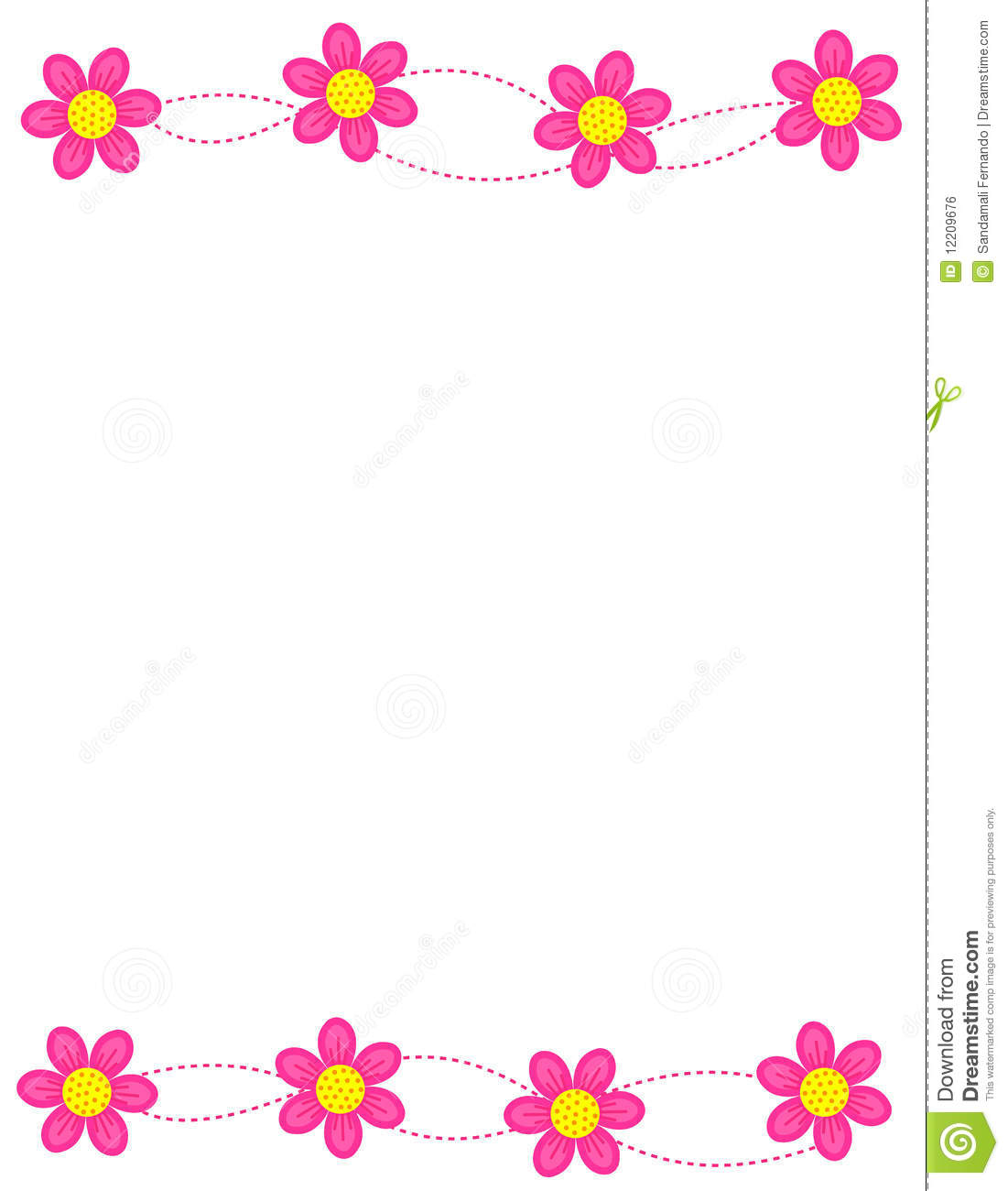 Floral Border Frame Royalty Free Stock Image