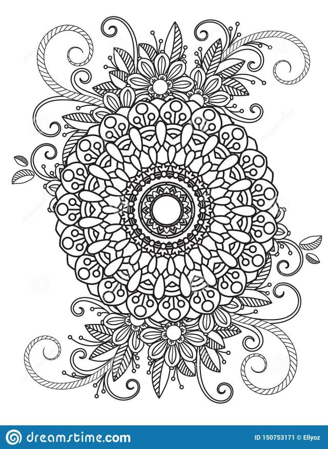 Floral Mandala Pattern stock vector. Illustration of boho - 27
