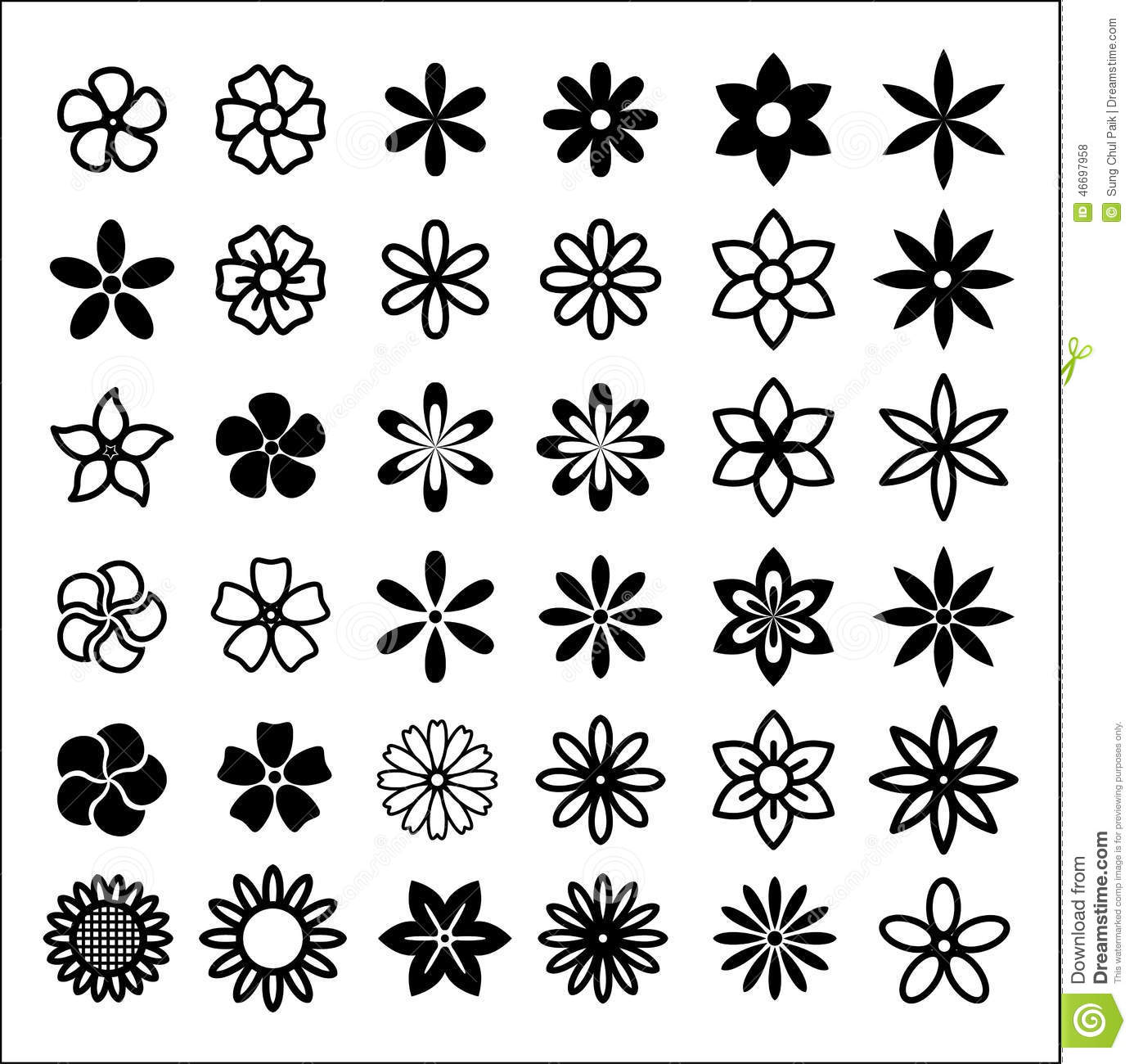 Flower Bud Shapes Stock Vector