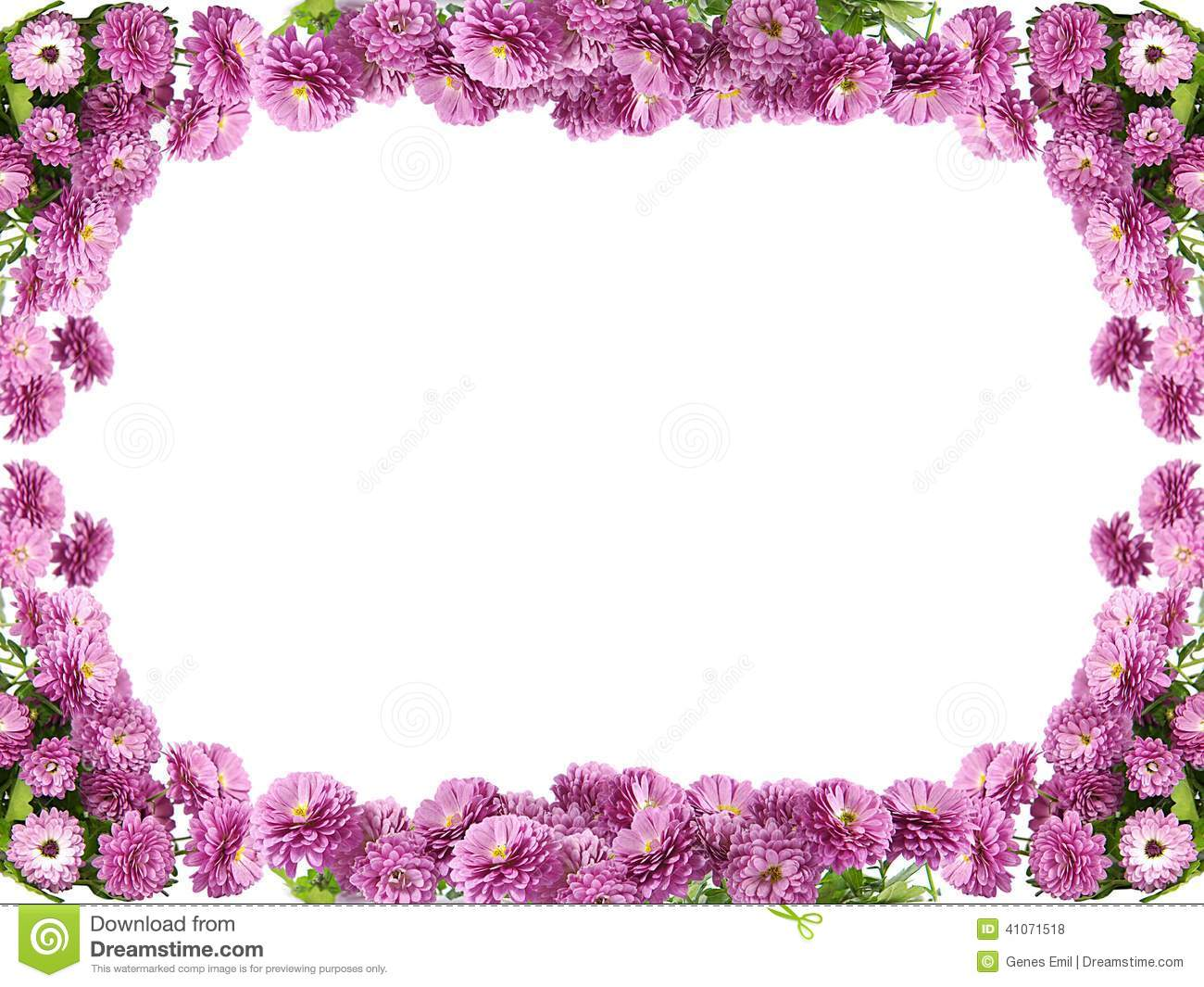 Pink Flower Borders And Frames