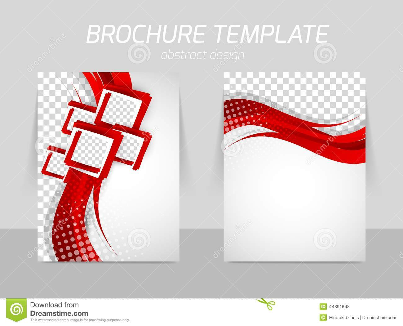 Flyer Back And Front Template Design Stock Vector