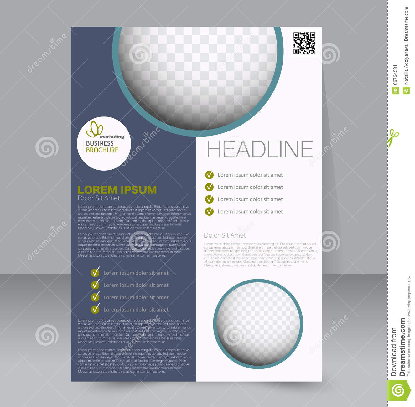 Flyer Template Business Brochure Editable A4 Poster Stock Vector Illustration Of Back Flip