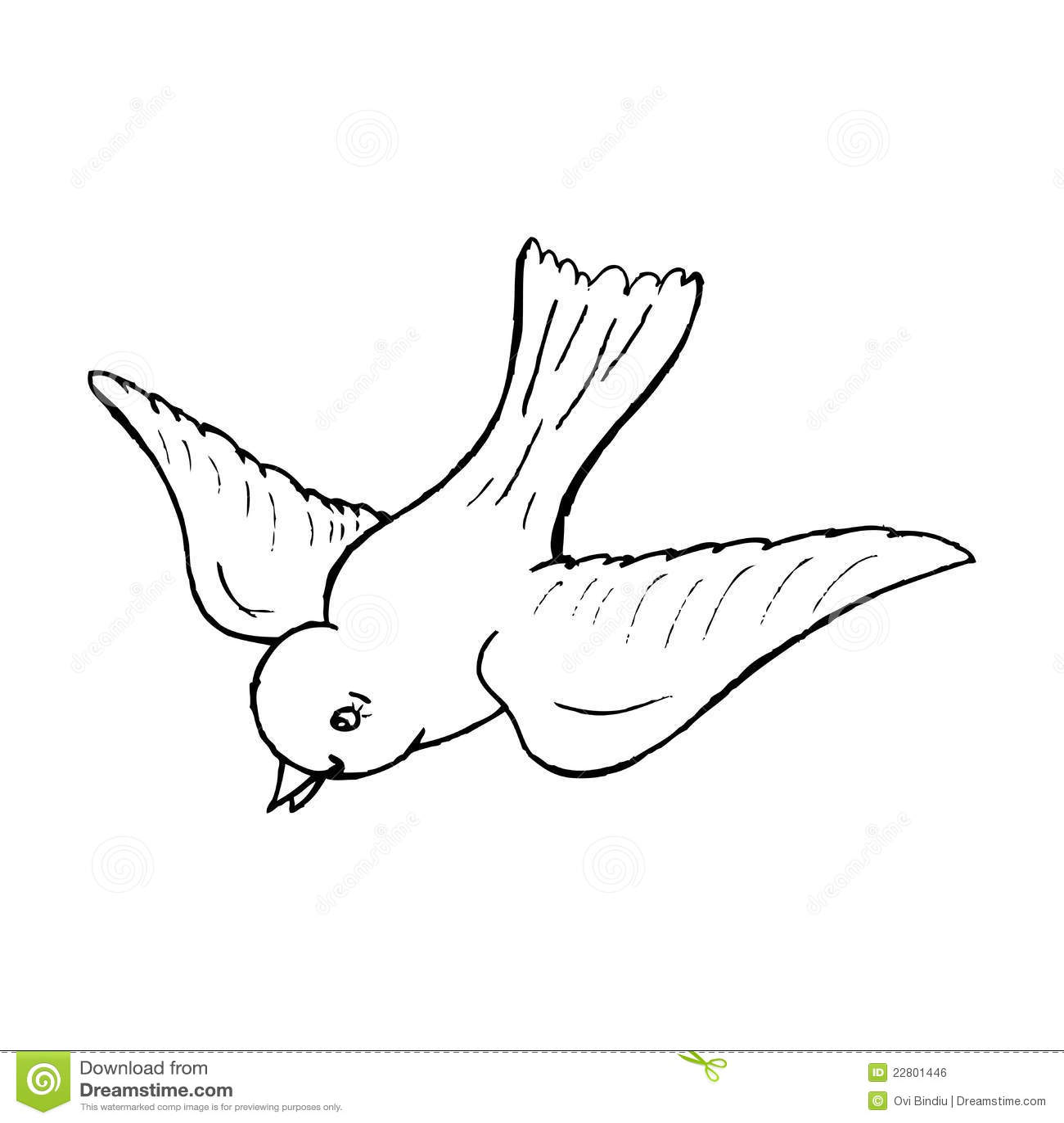 A Flying Bird Stock Illustration Illustration Of Animal