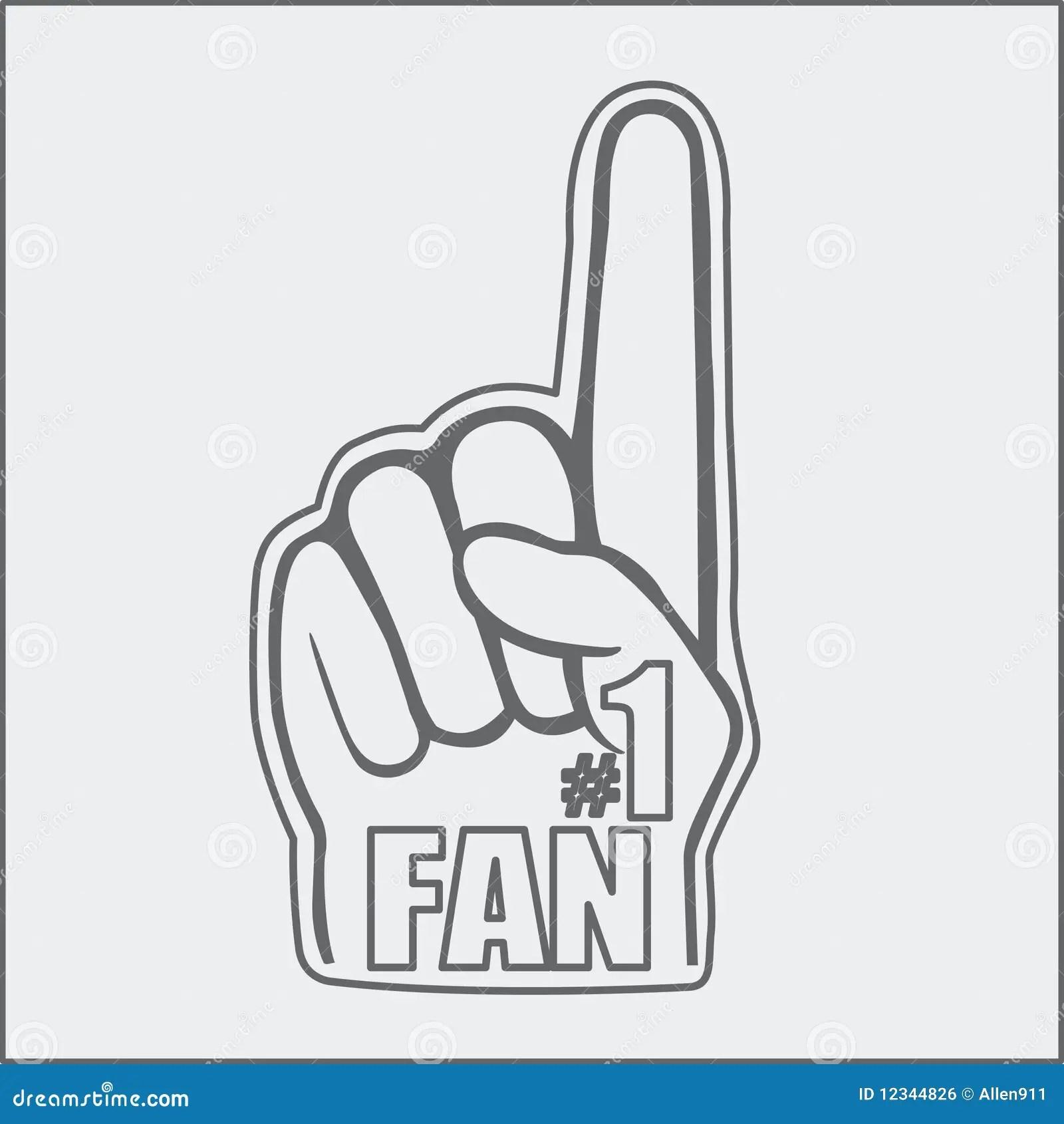 Foam Fan Hand Drawing Royalty Free Stock Image