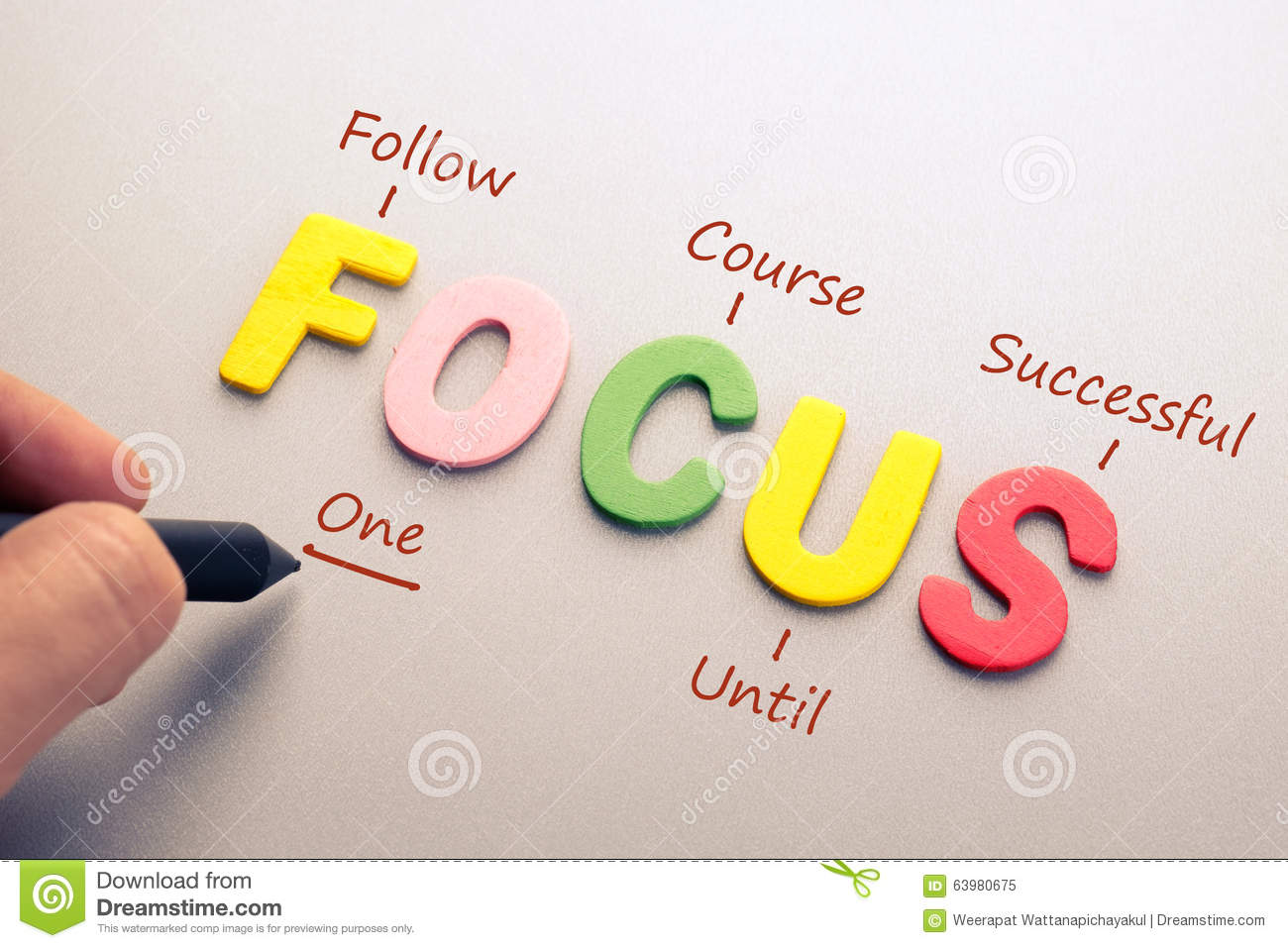 Focus Acronym Stock Image Image Of Letter Education