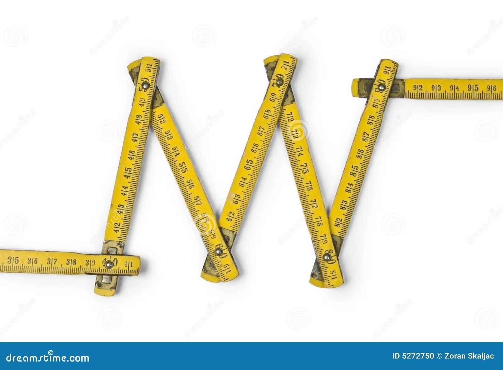 Folding Ruler Zig Zag Stock Photo Image Of Scale