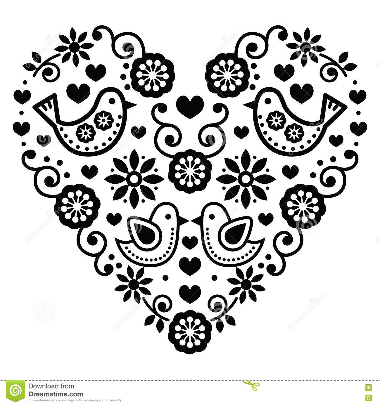 Black And White Clip Art Of Hearts And Flowers Pictures To