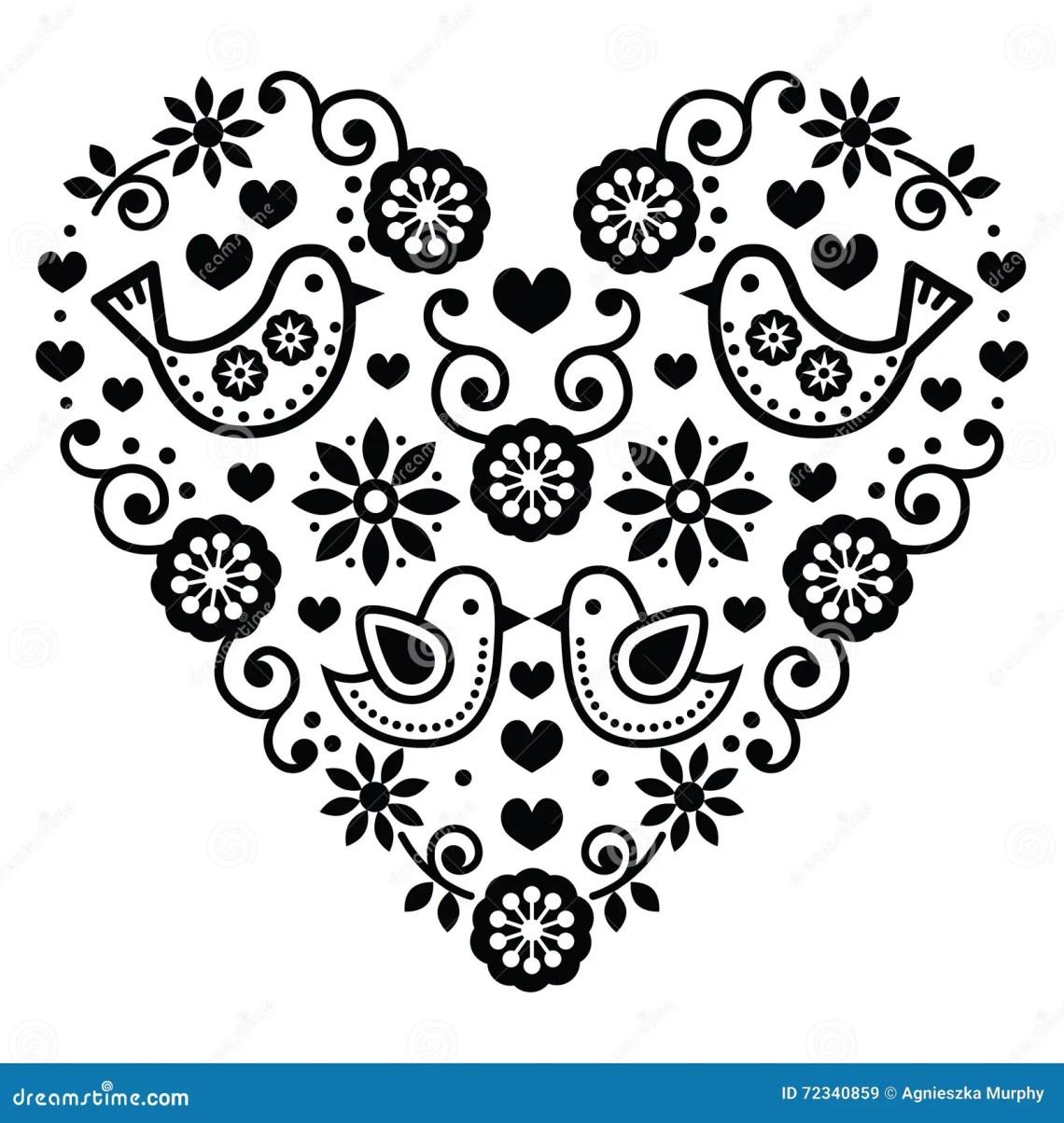 Download Folk Art Heart Stock Photography   CartoonDealer.com #555242