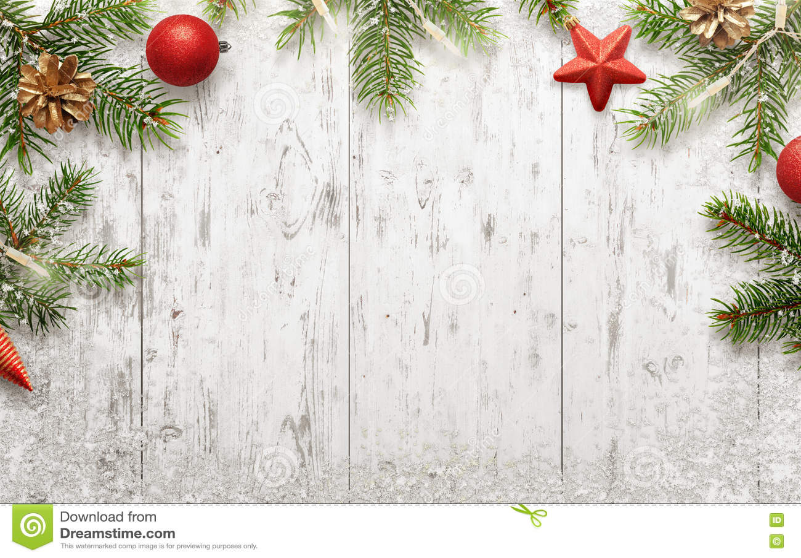 Fond De Nol Blanc Avec Larbre Et Les Dcorations Image