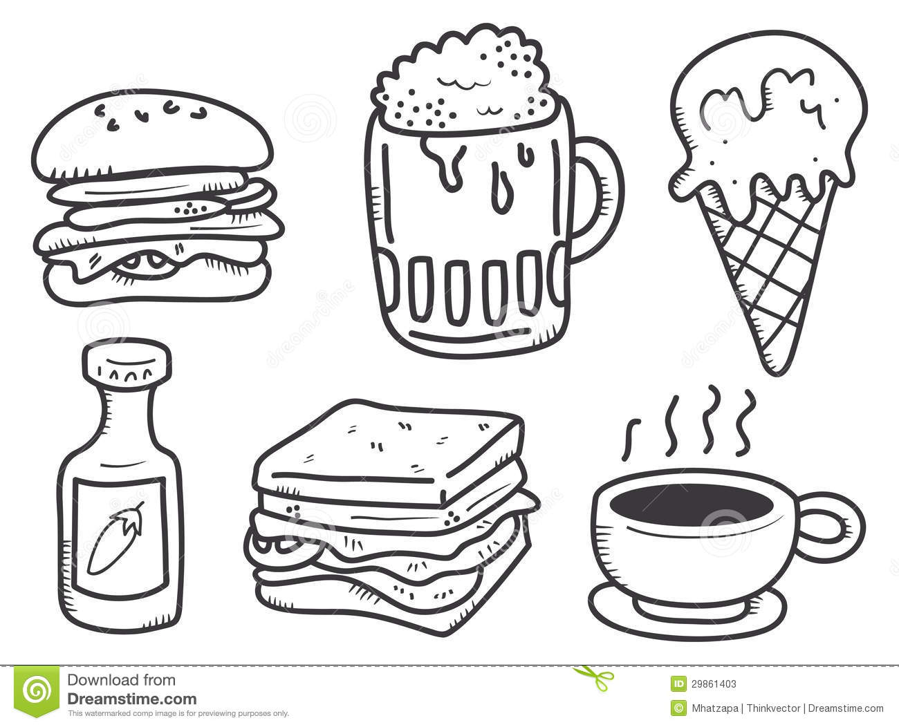 Cute Food Drawings
