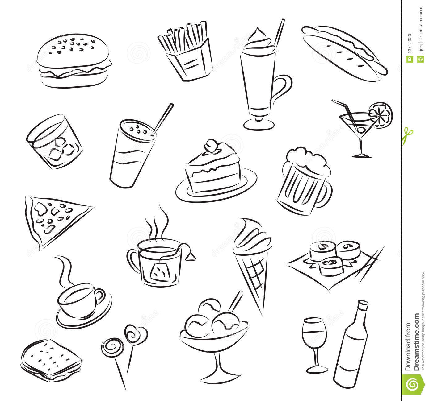 Food And Drinks Stock Photos