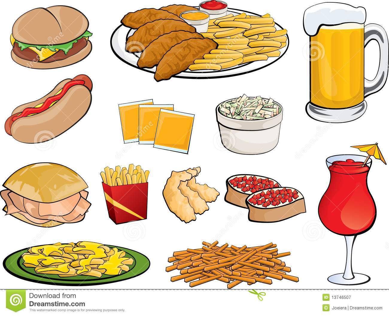 Food Icons Stock Vector Illustration Of Coleslaw Beer