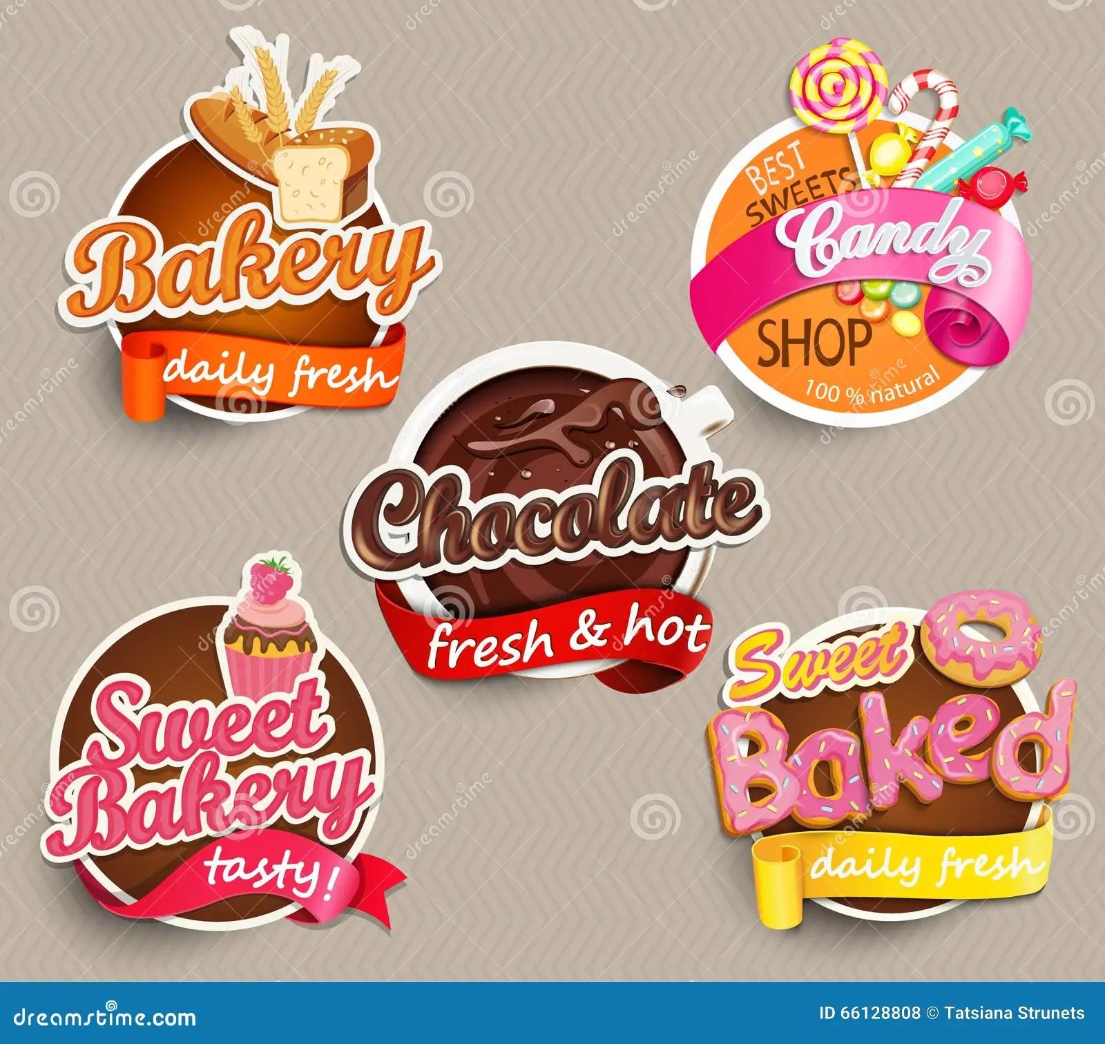 Label design template food label or sticker design template stock