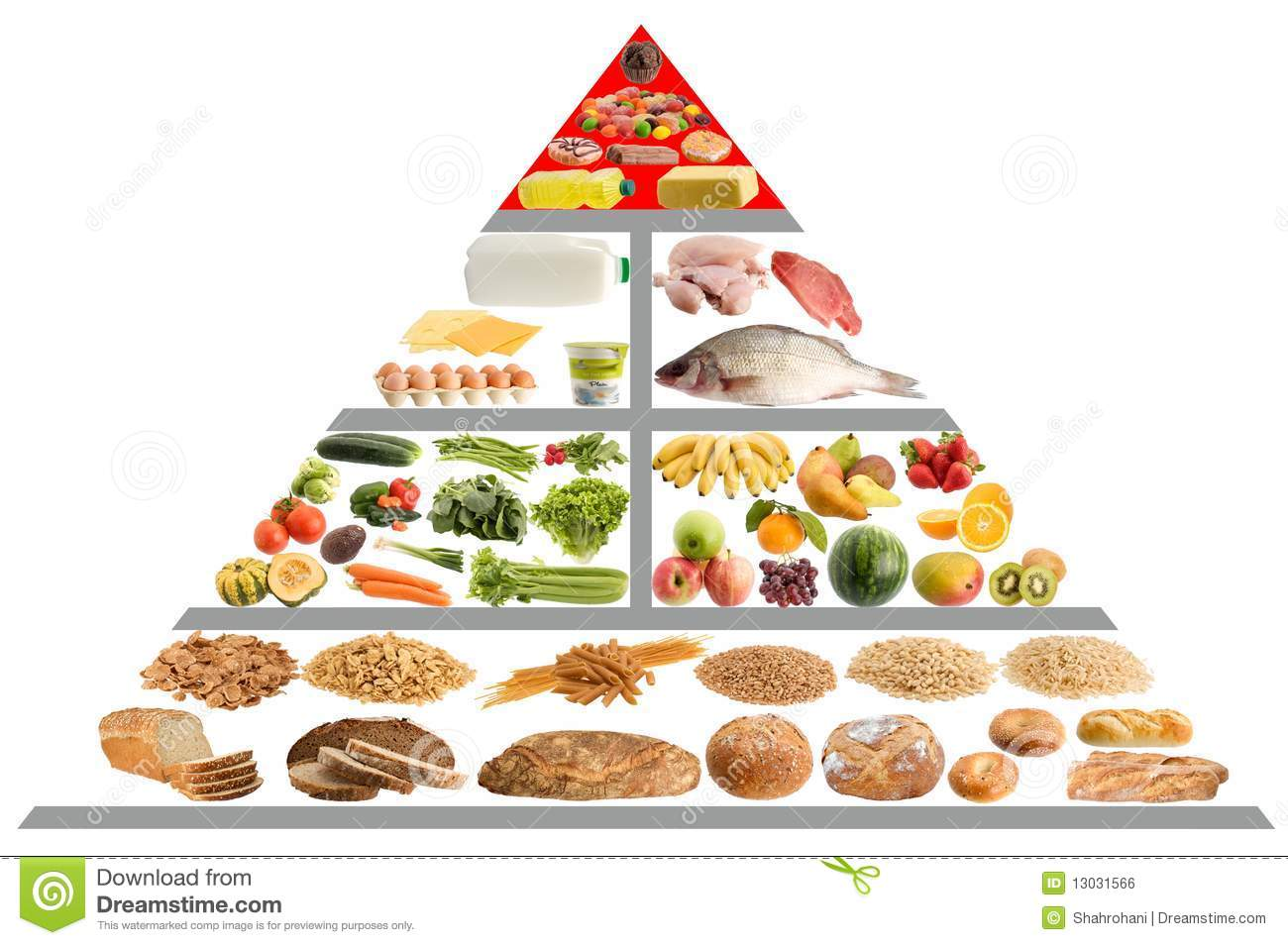 Food Pyramid Guide Stock Photo Image Of Pyramid Grain
