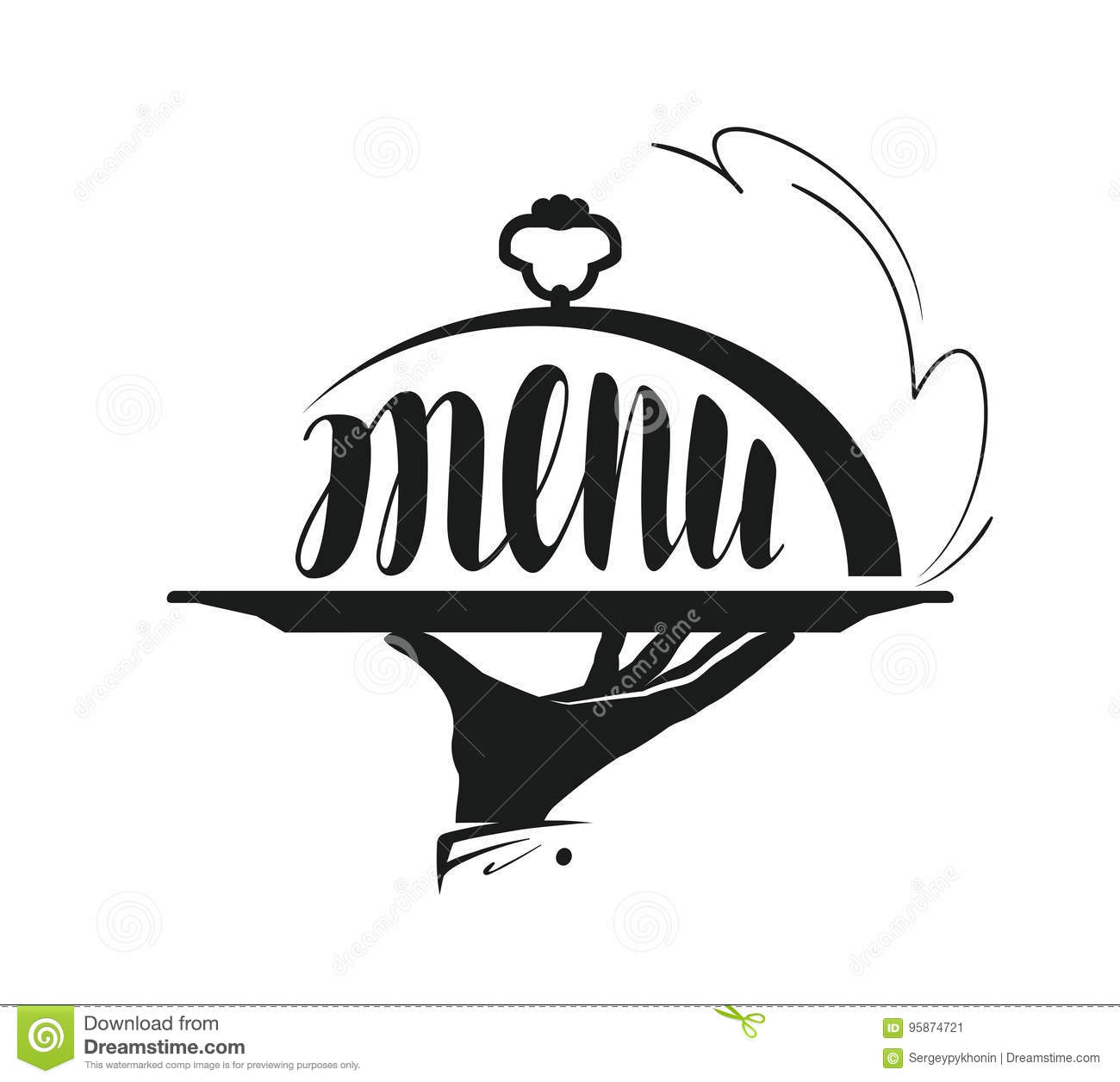 Food Service Catering Logo Icon For Design Menu