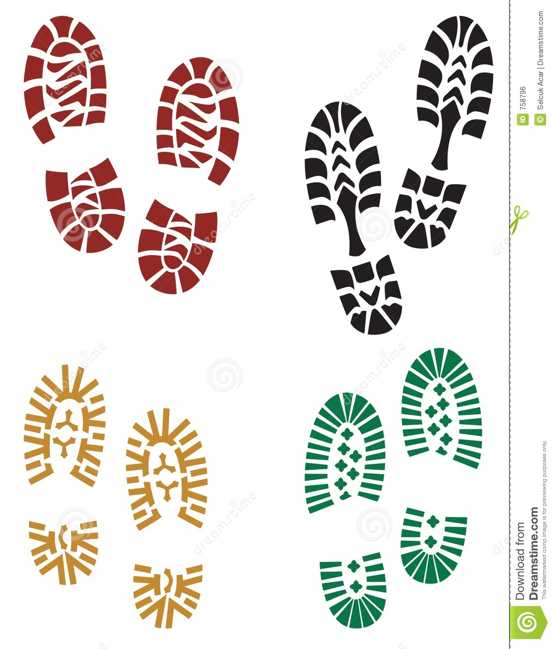 Running Shoe Print Clip Art