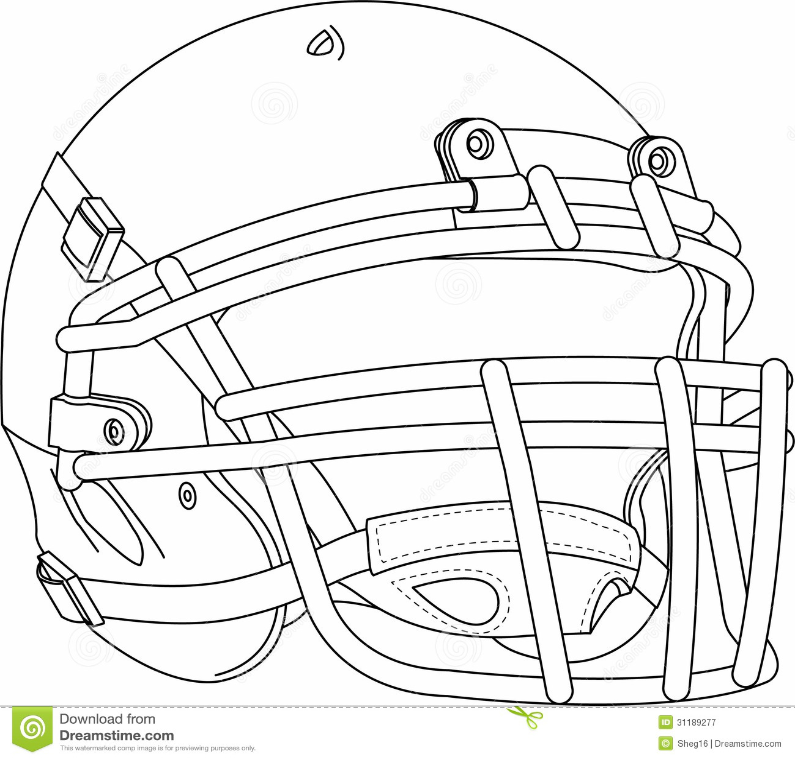 Football Helmet Royalty Free Stock Photography