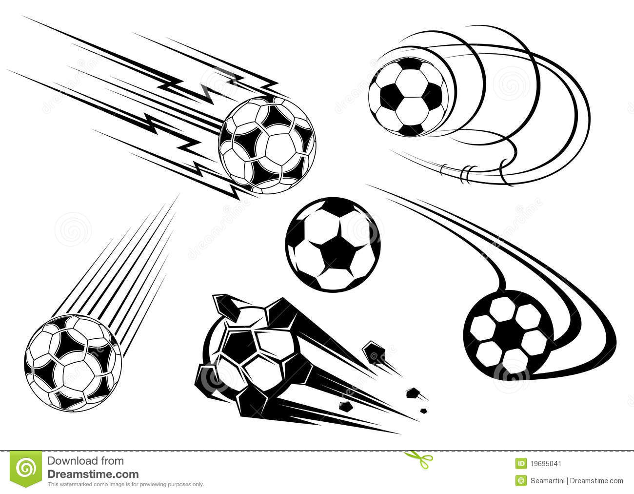 Football And Soccer Symbols Stock Image