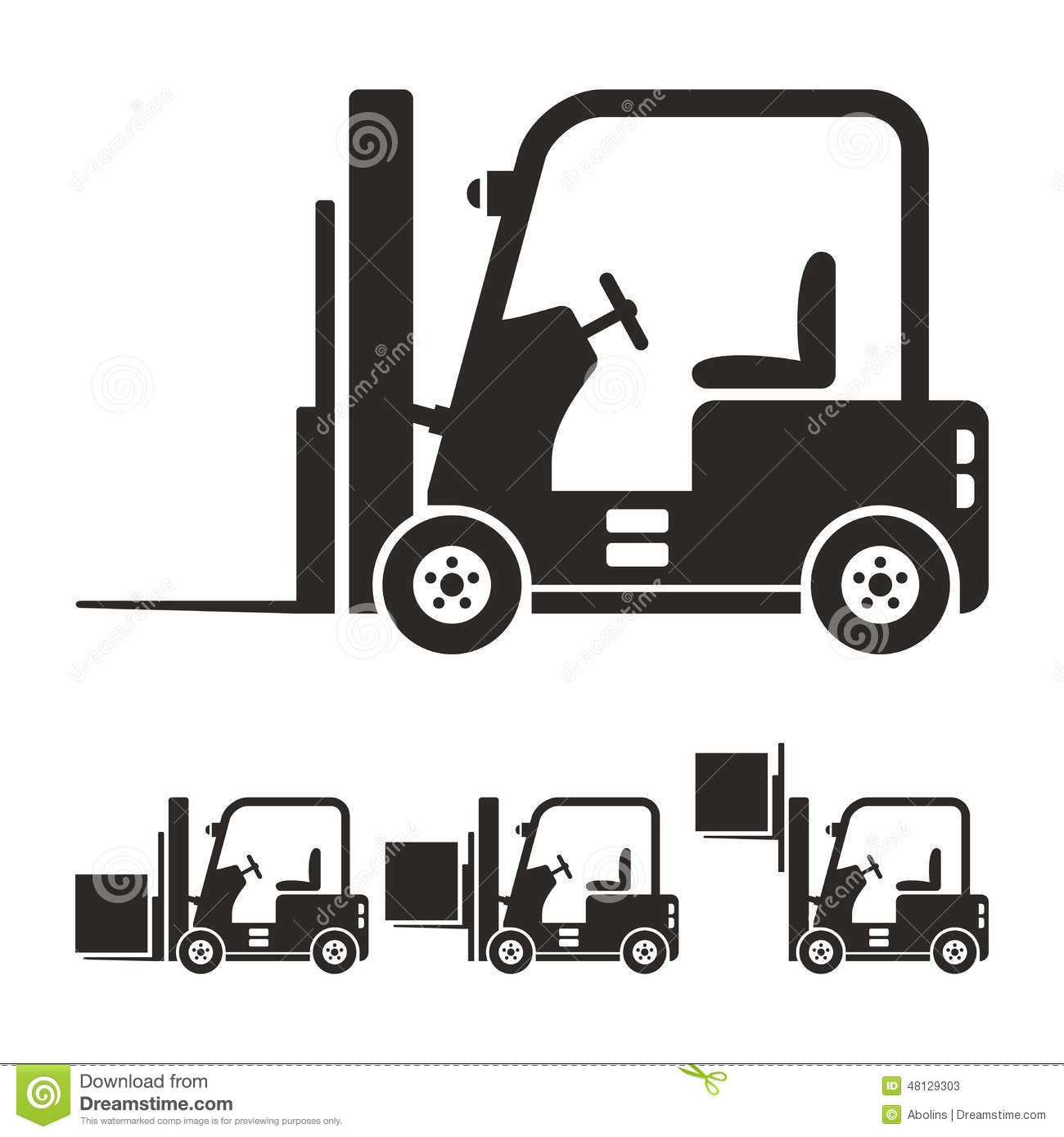 Forklift Truck Icon Set Stock Vector Image Of Shipper