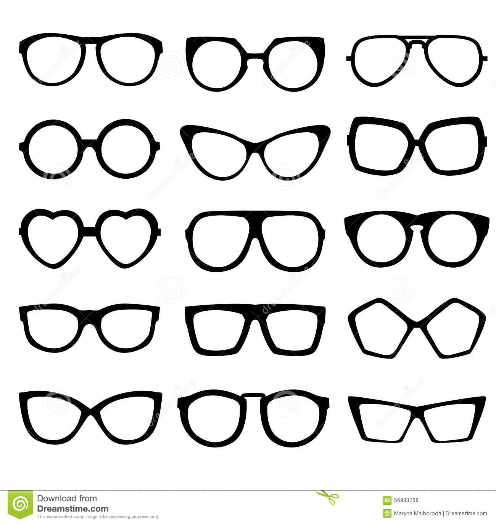 Form Glasses Stock Vector Illustration Of Transparent