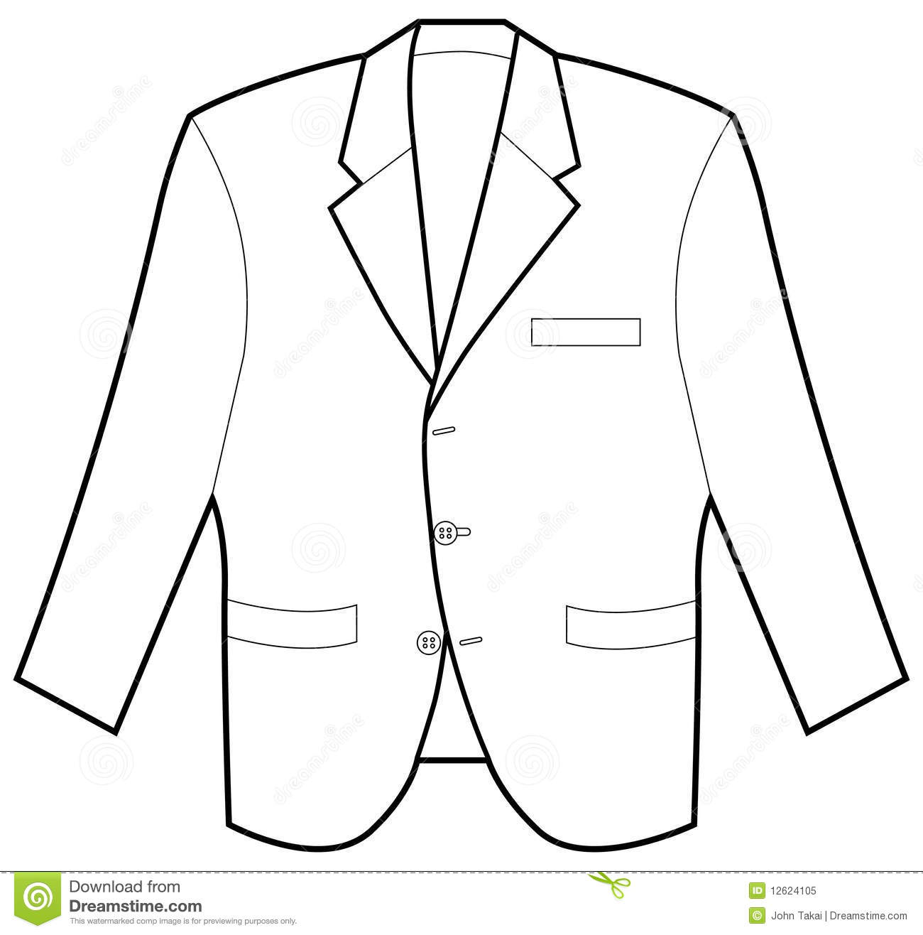 Formal Jacket Stock Vector Illustration Of Button