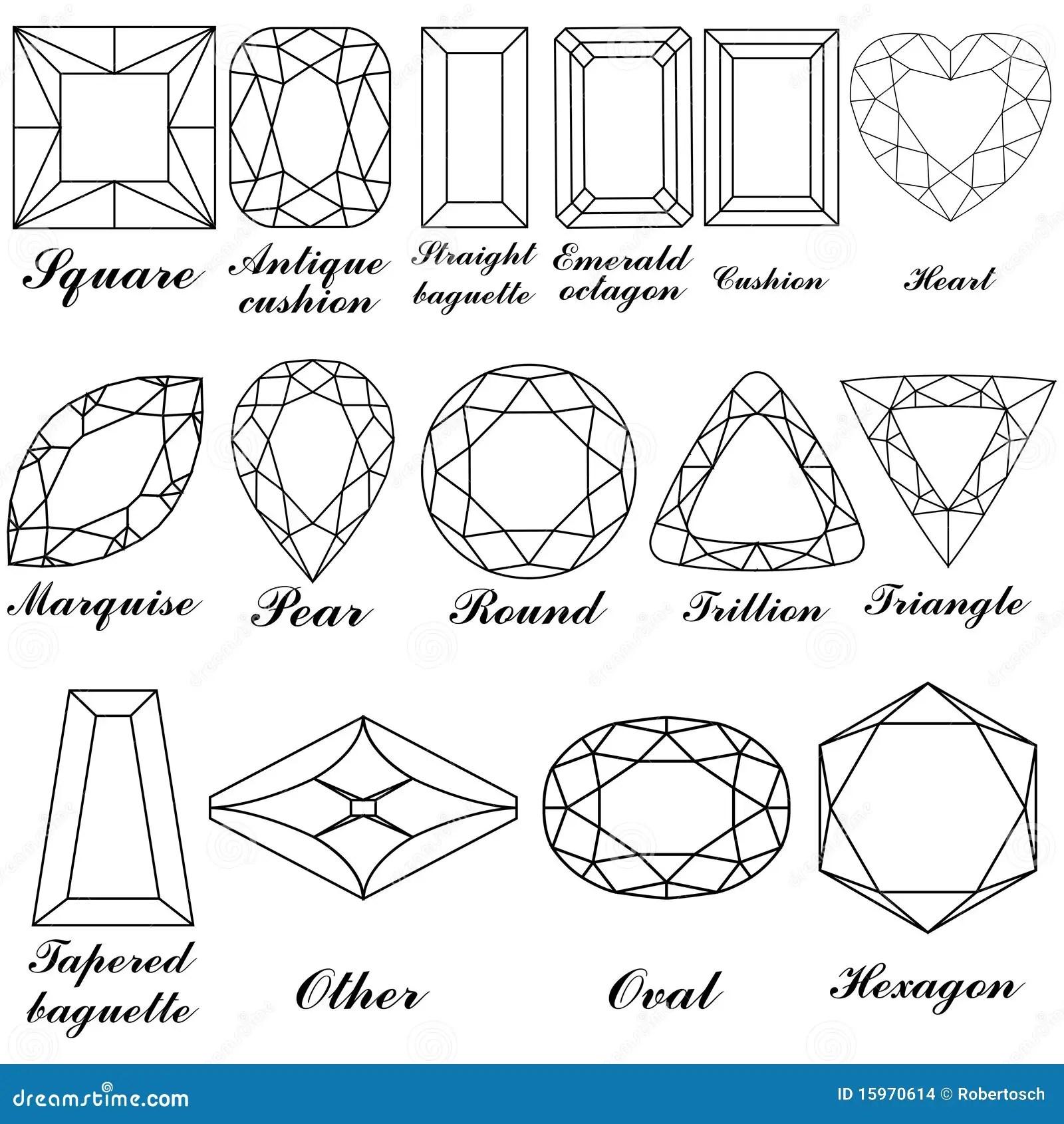Formas De Pedra E Seus Nomes Ilustracao Do Vetor