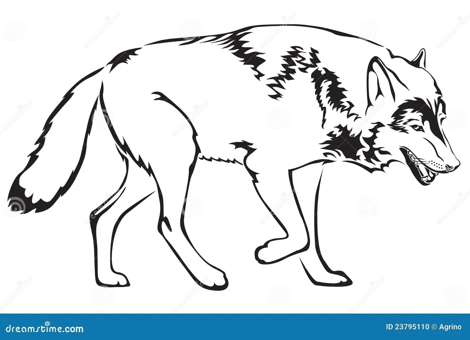 Forme De Loup Photo Stock