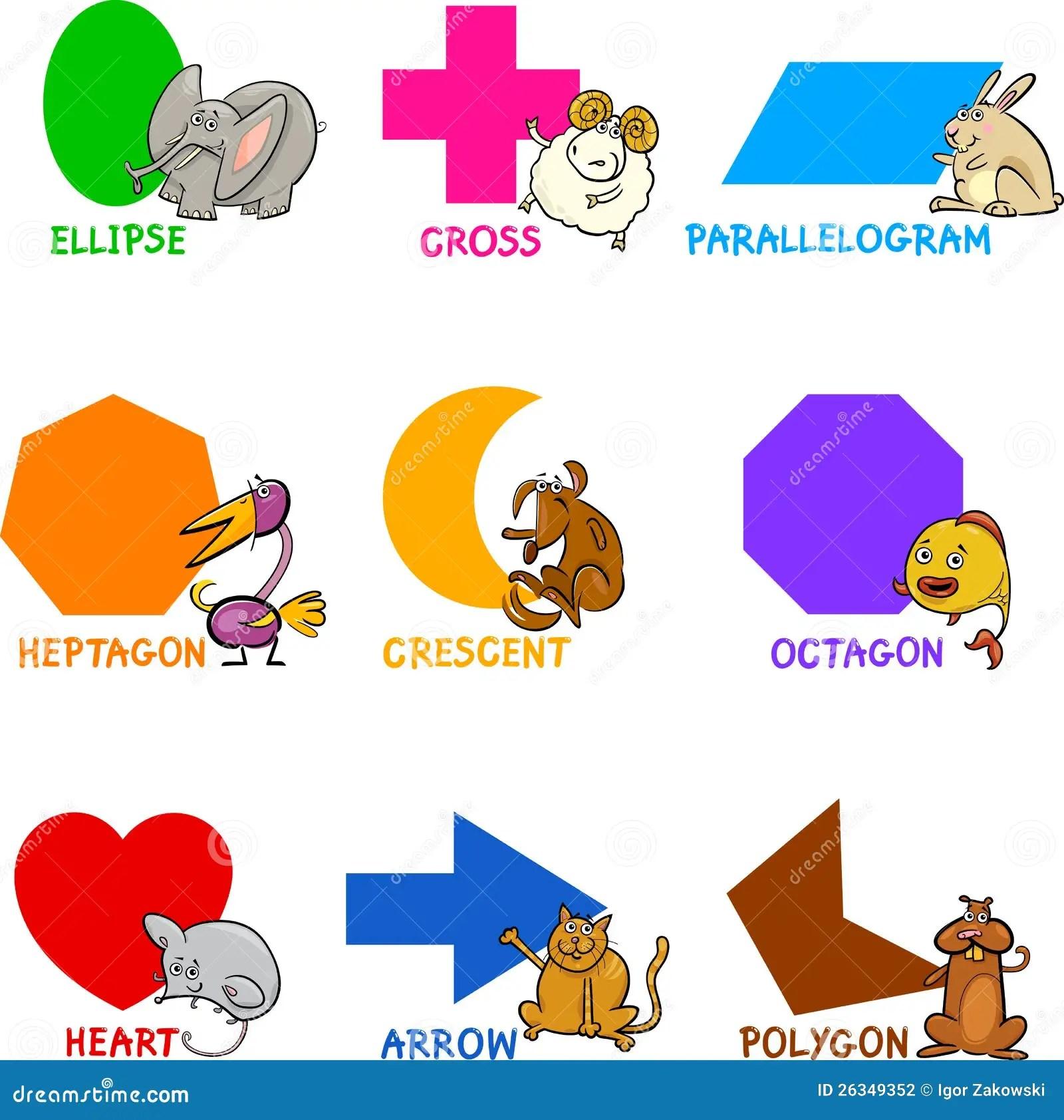 Formes Geometriques Fondamentales Avec Des Animaux De