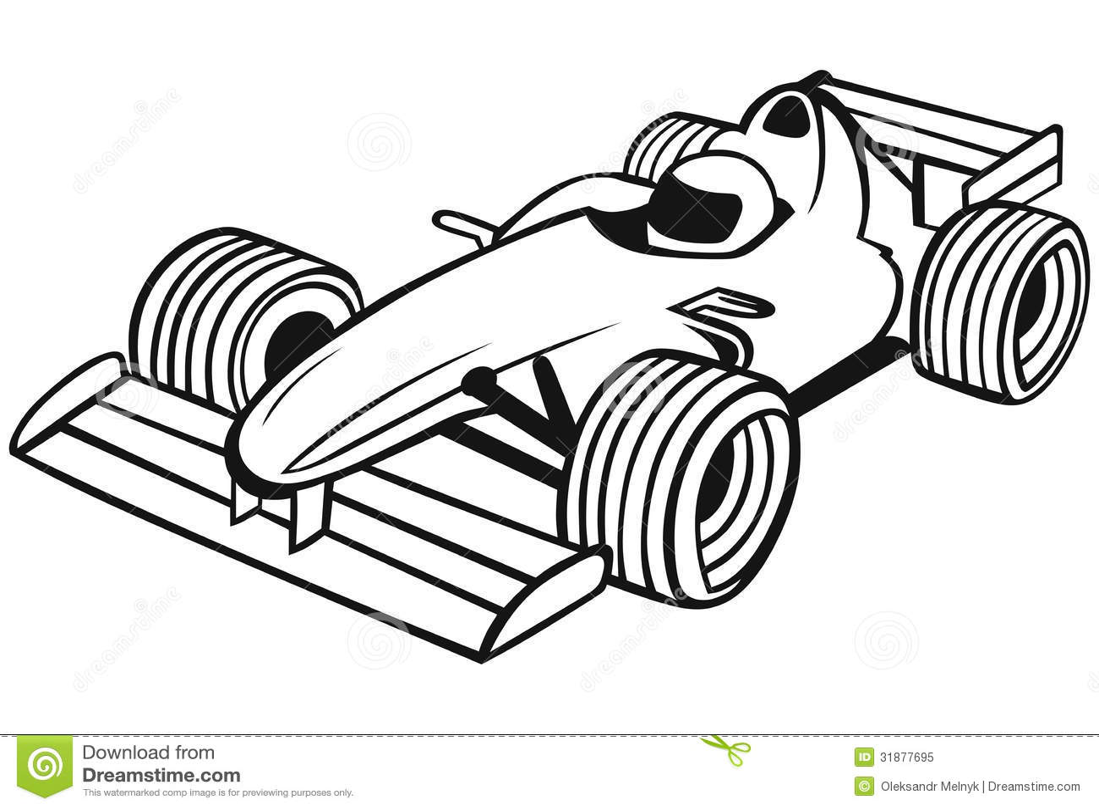 Formula 1 Racing Car Stock Vector Illustration Of Drawing