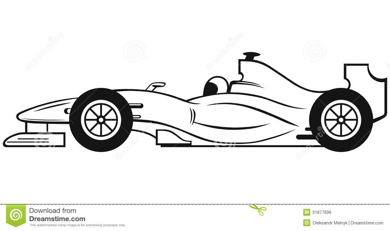 Formula 1 Racing Car Stock Vector Illustration Of