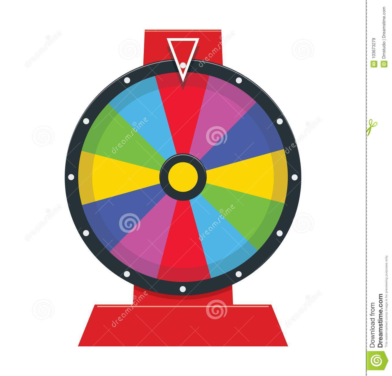 Fortune Wheel With No Numbers Vector Stock Vector