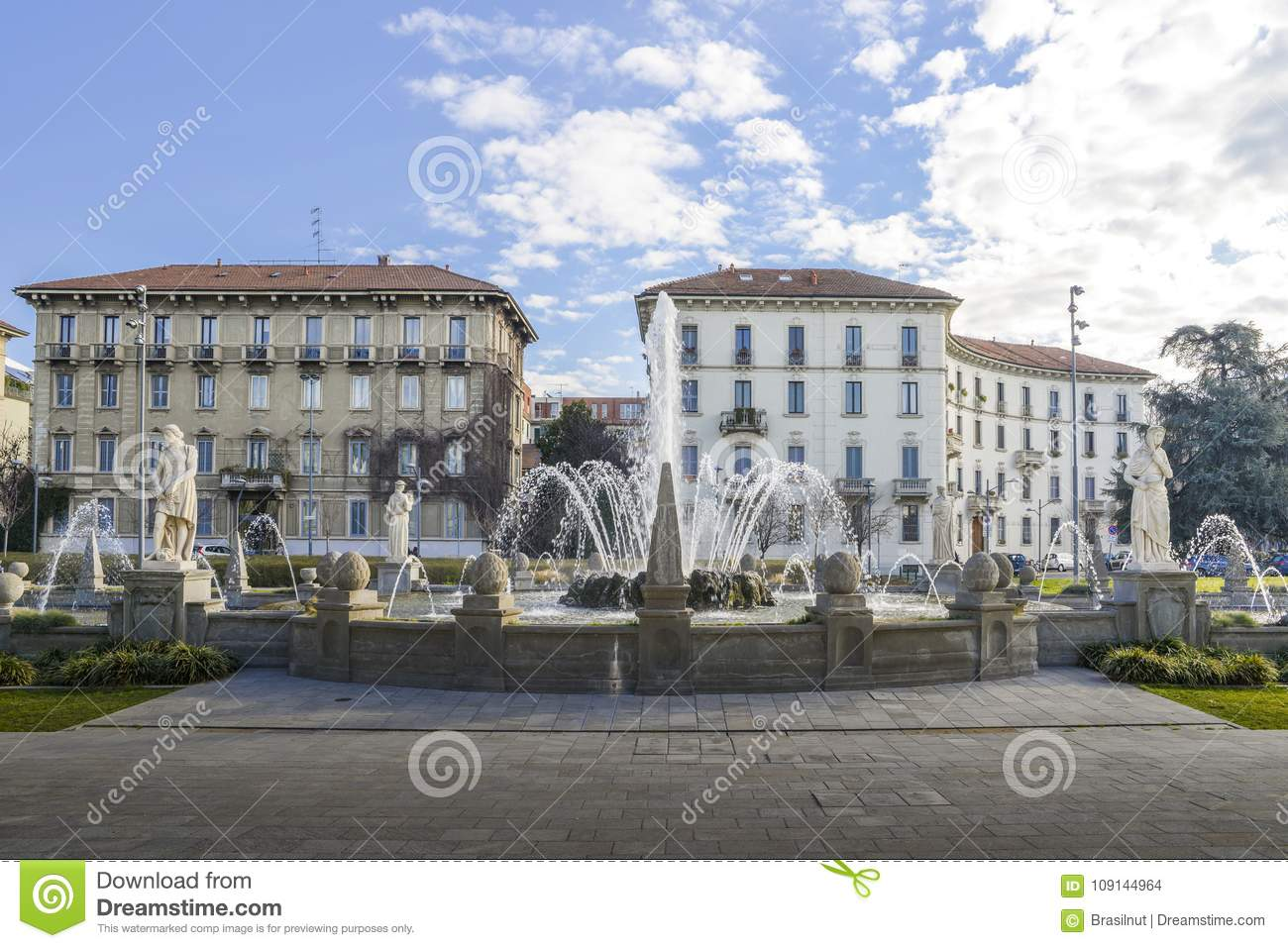 Fountain Of The Four Seasons In Italian Fontana Delle