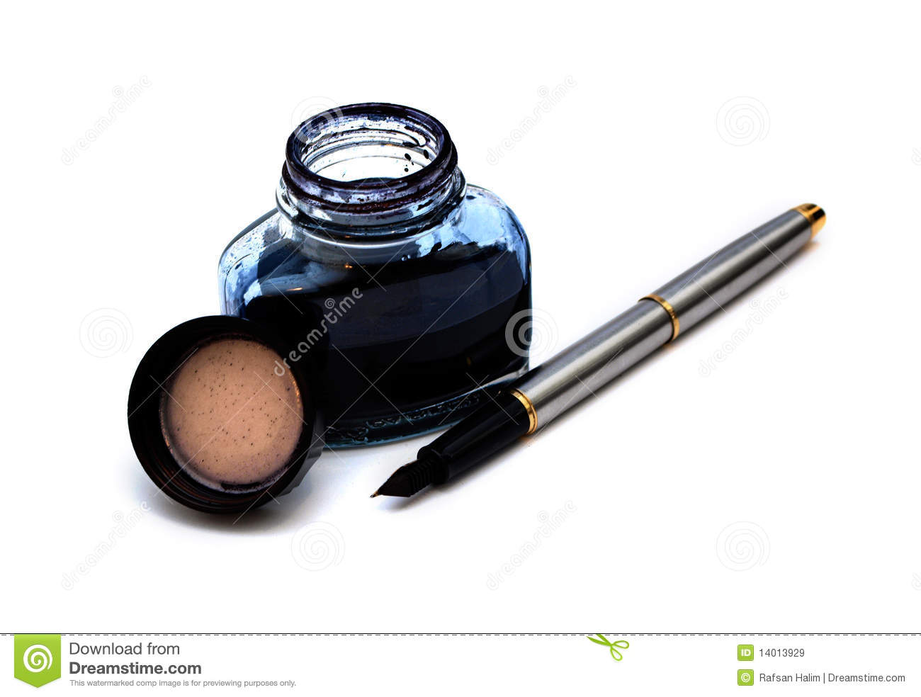 Fountain Pen And Ink Royalty Free Stock Images