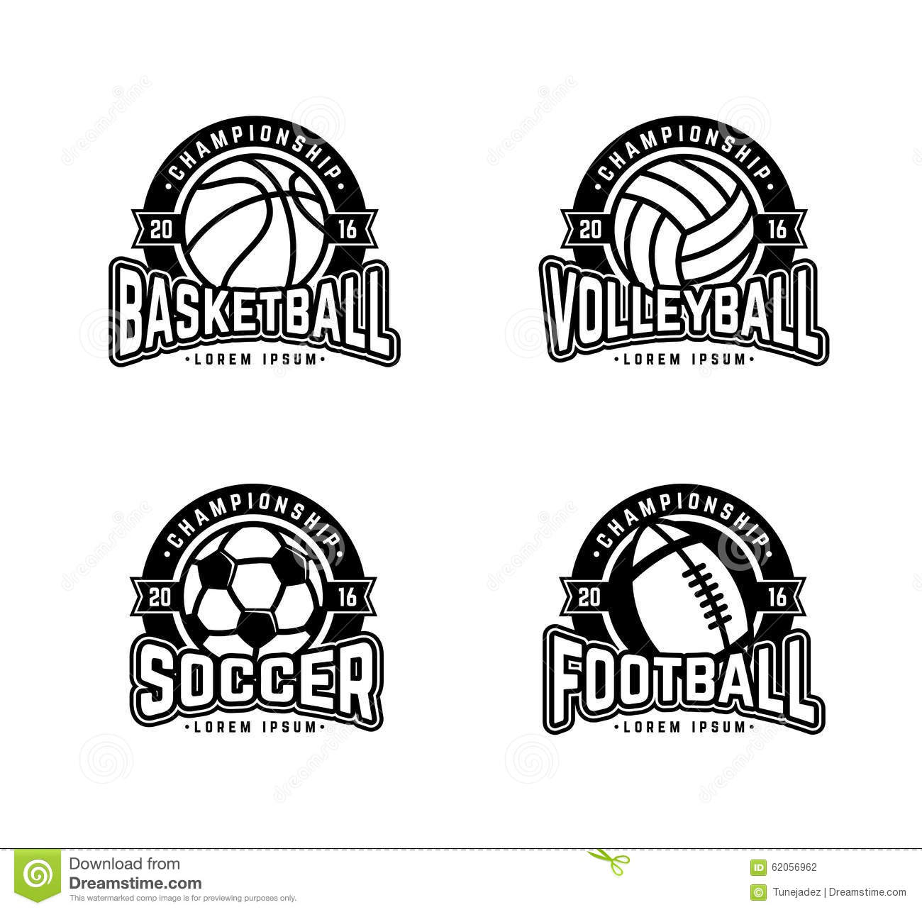 Four Sports Stock Vector