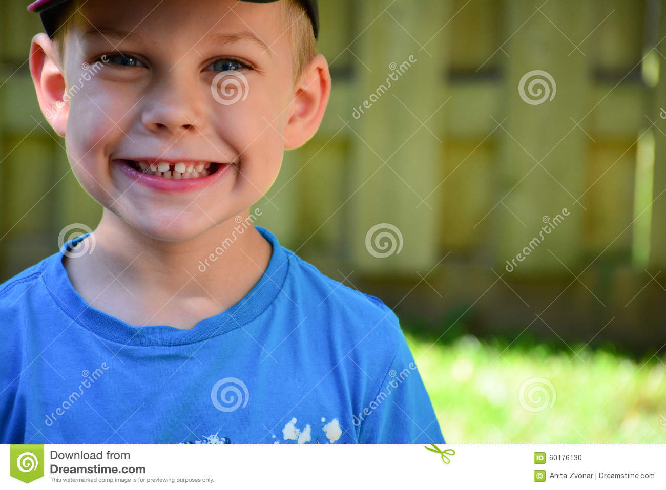 Four Year Old Caucasian Boy Close Up Face Stock Photo