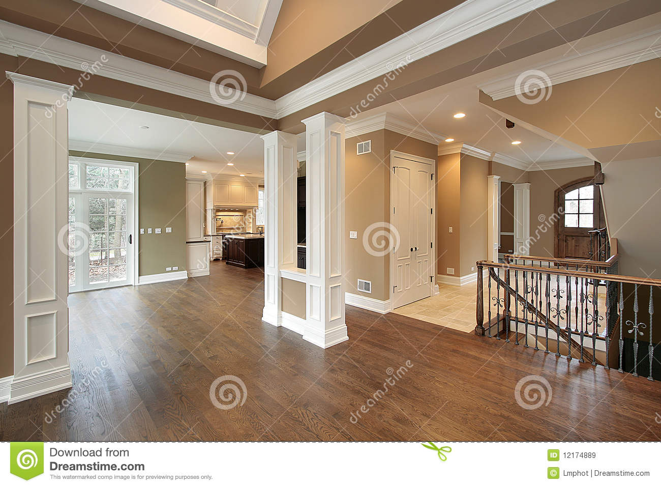 Foyer And Dining Room Stock Image Image Of Lighting