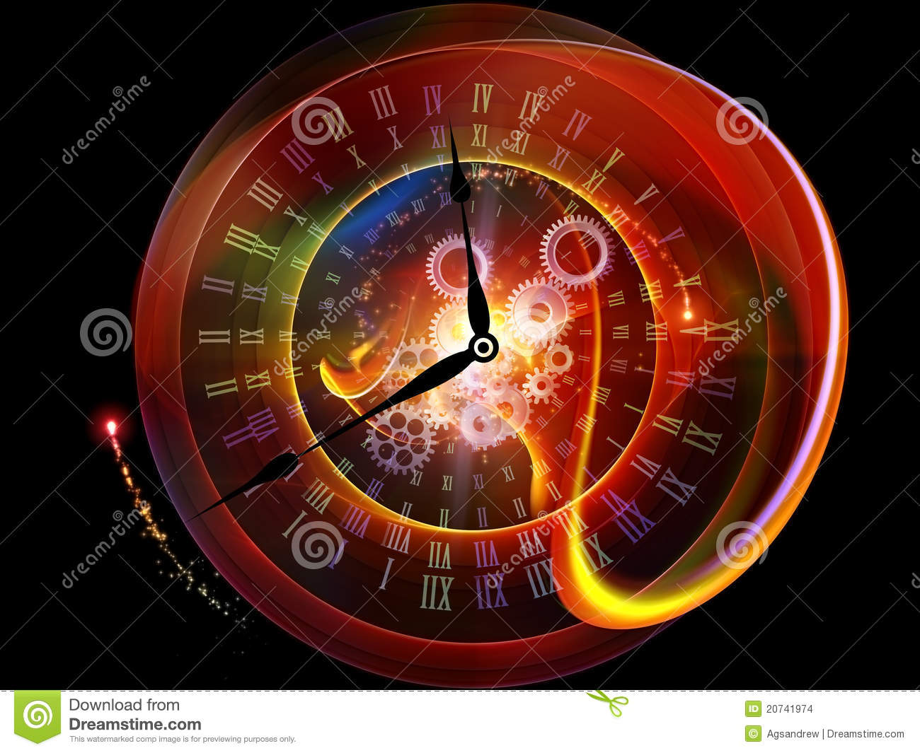 Fractions Of Time Stock Images