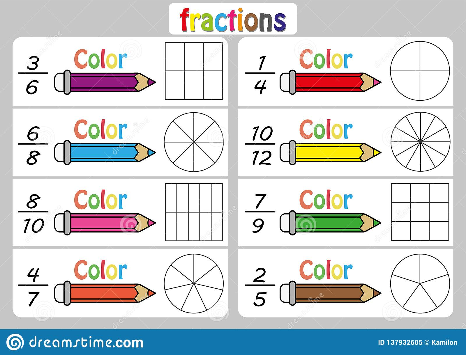Worksheet On Fractions For Grade 5