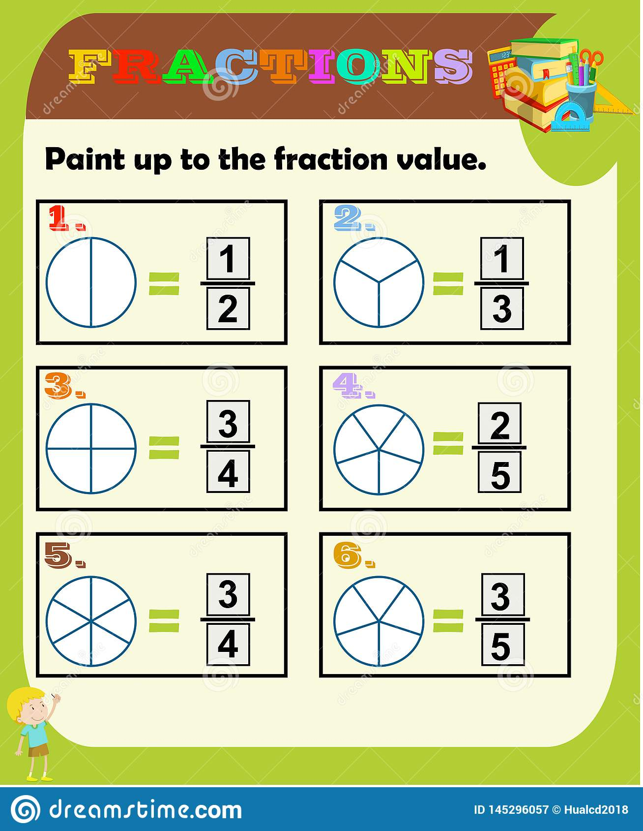 Worksheet Fraction Half Quarter