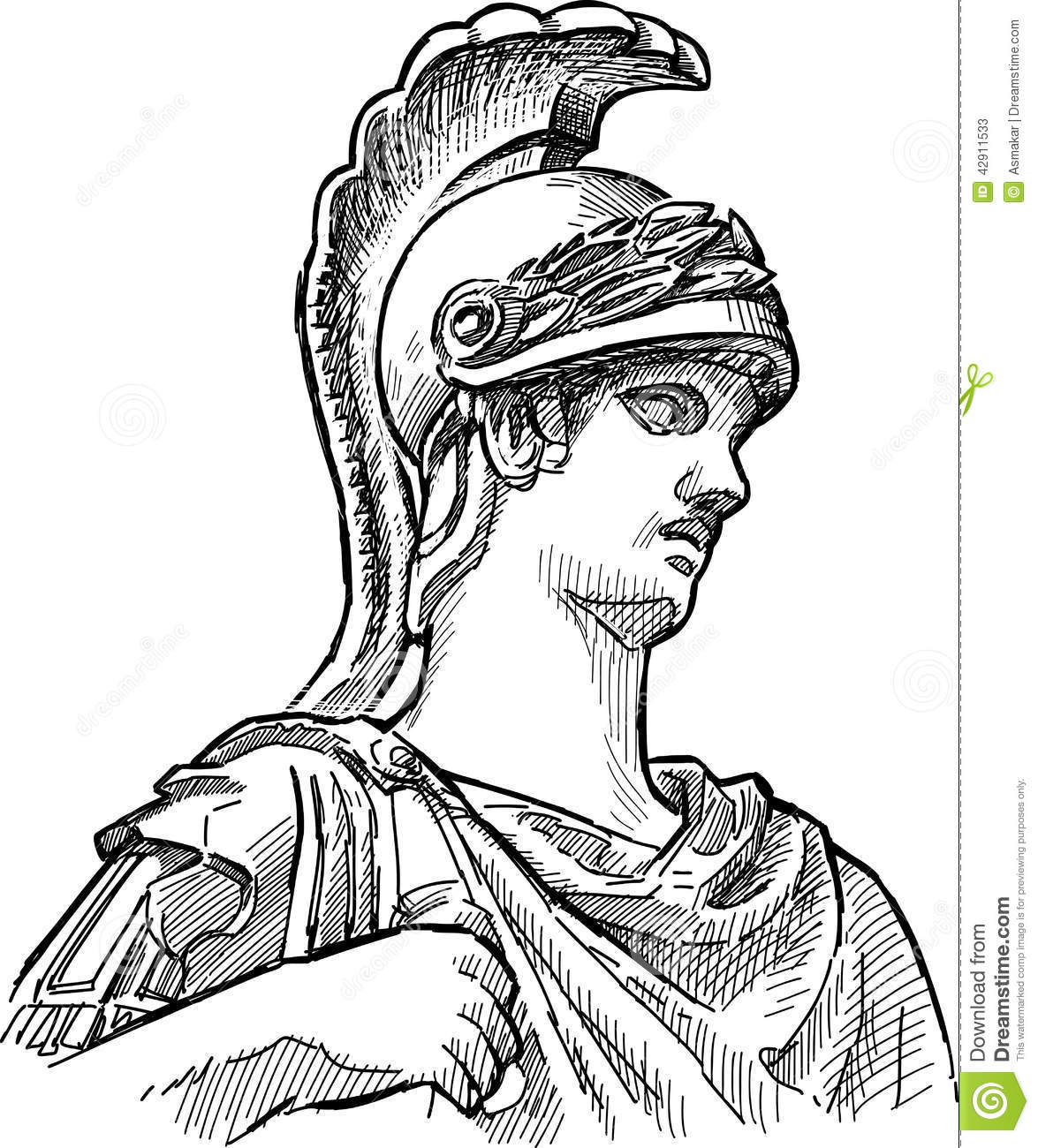 Fragment Of Ancient Statue Stock Vector