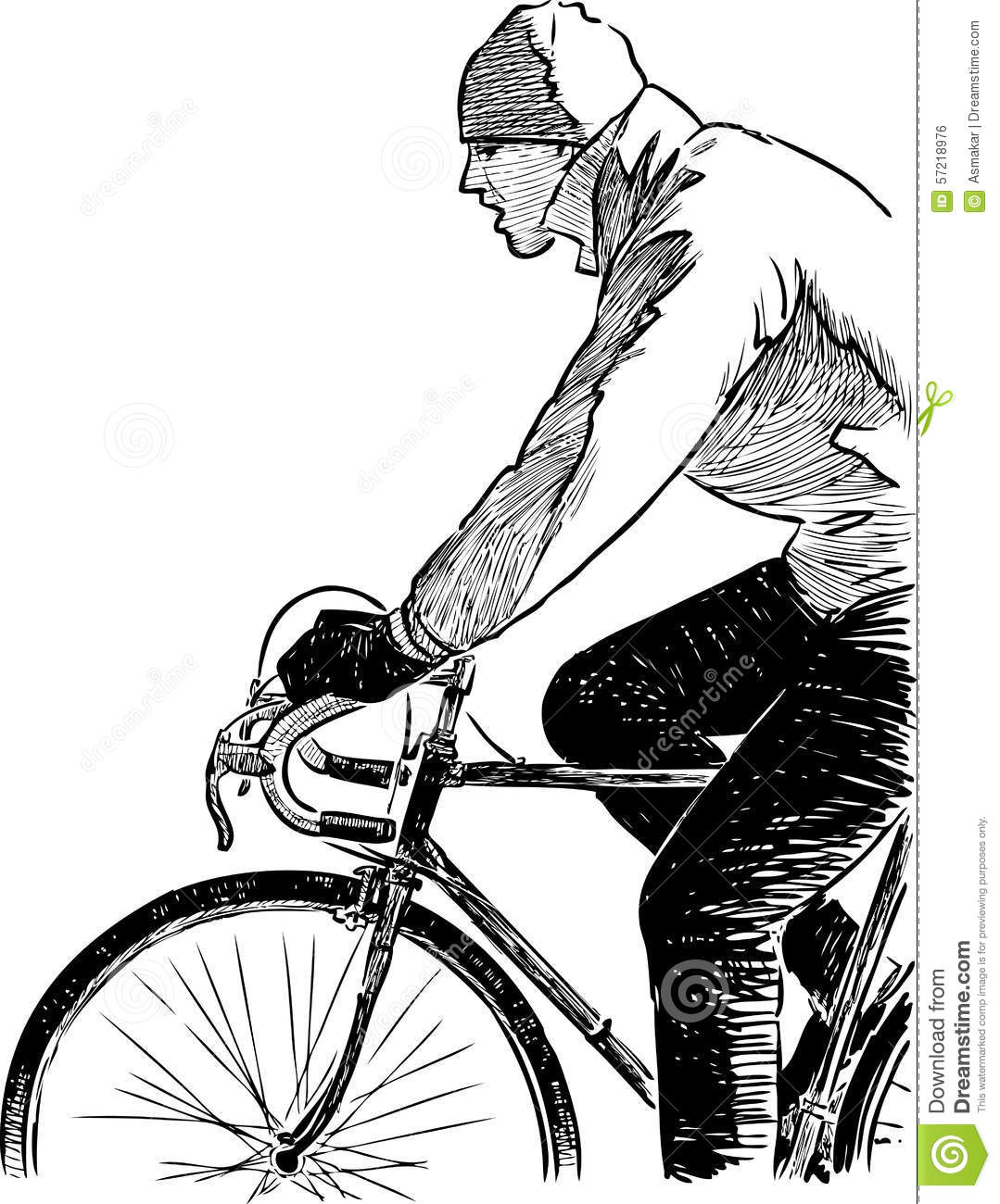 Fragment Of A Cyclist Stock Vector